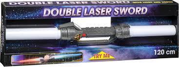 Dubbelt lasersvärd med ljus och ljud