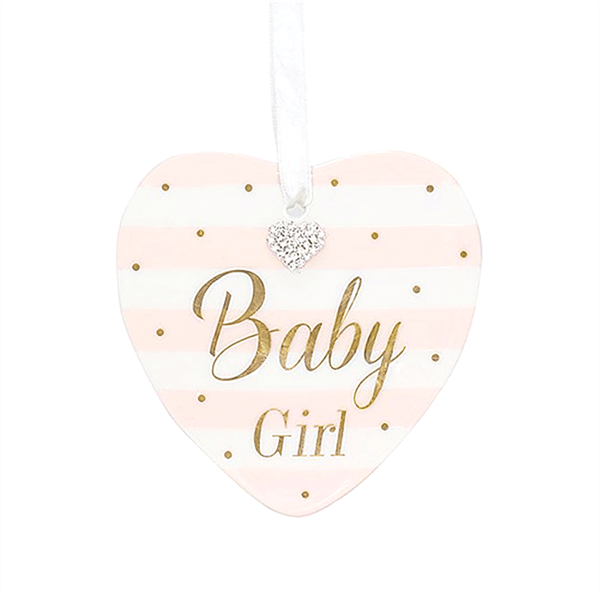 Baby girl heart plaque Lesser & Pavey