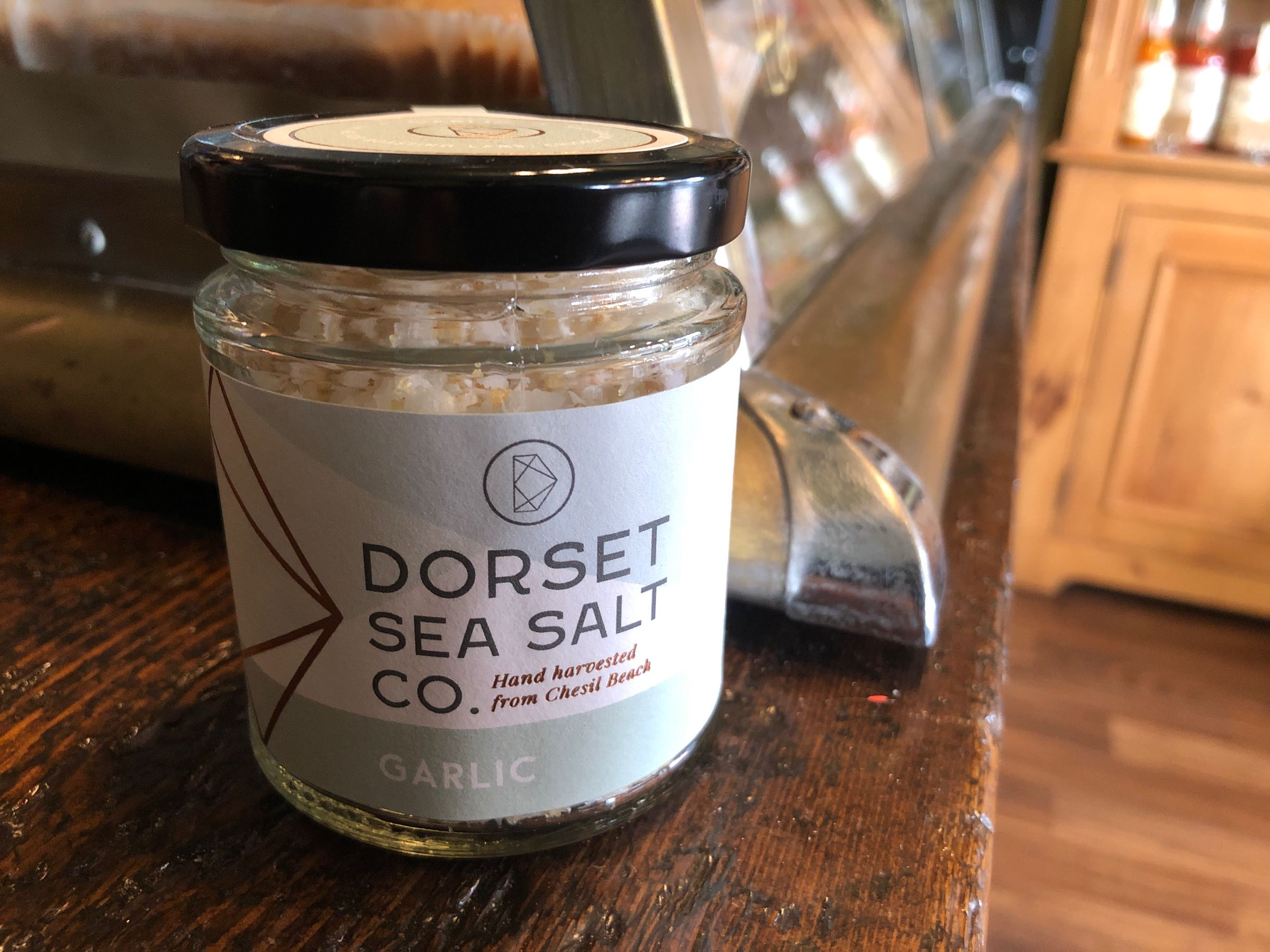 Dorset Sea Salt 125g Jar Garlic Dorset Sea