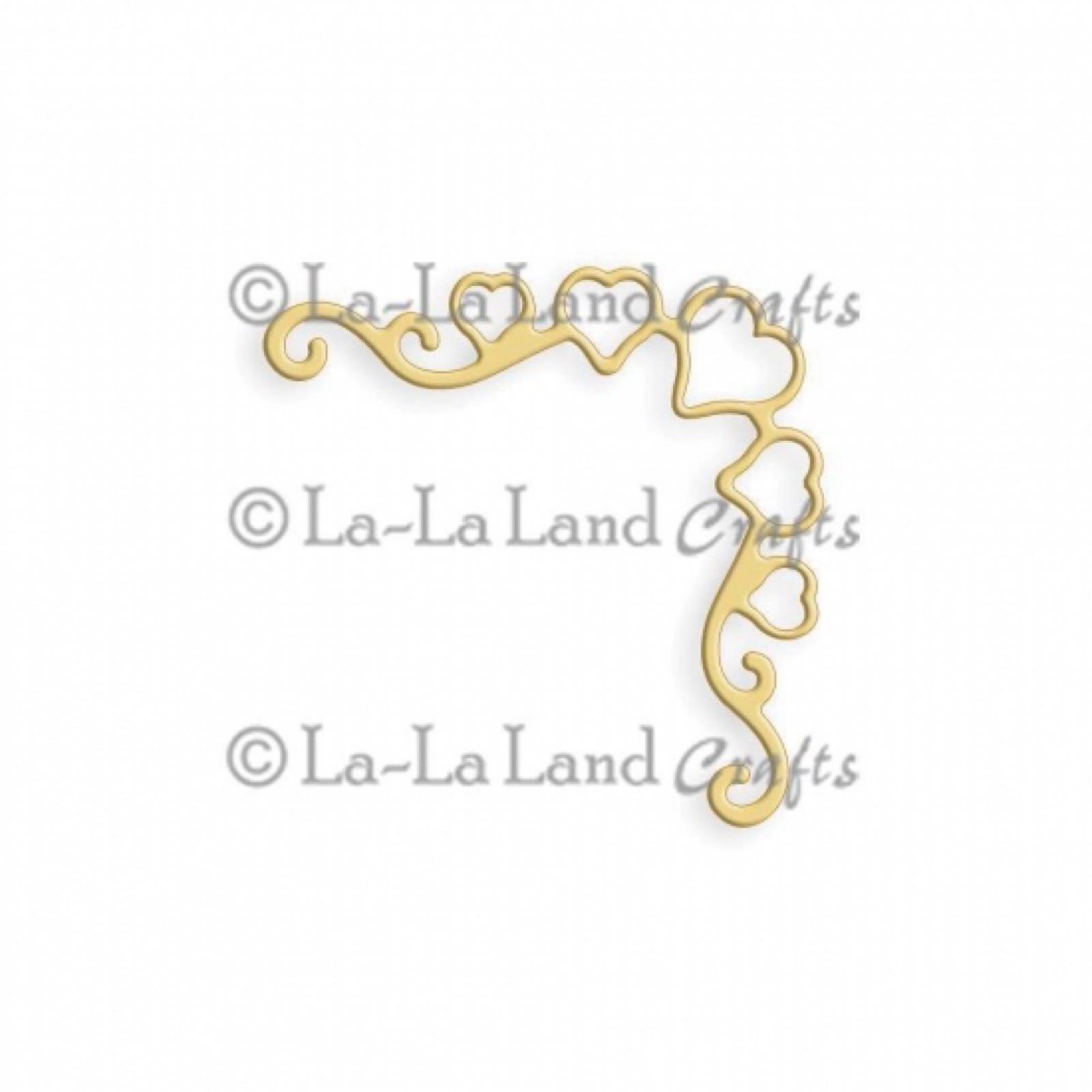La-la land crafts dies heart ribbon corner