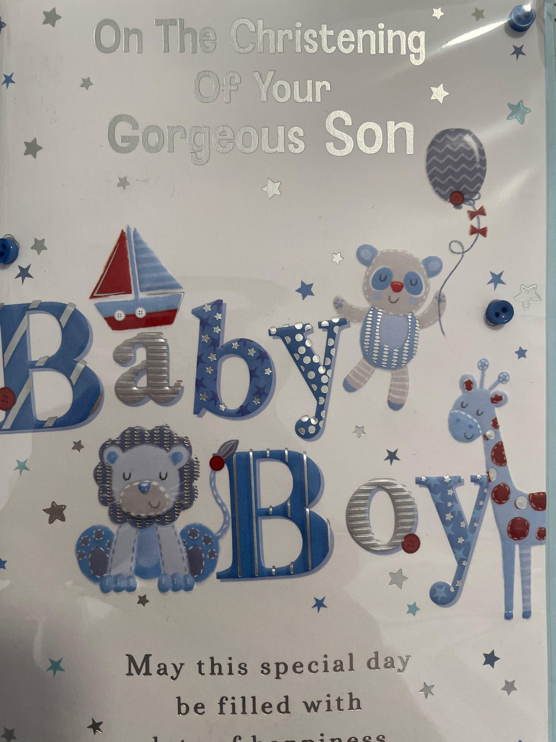 Christening Baby Boy Card