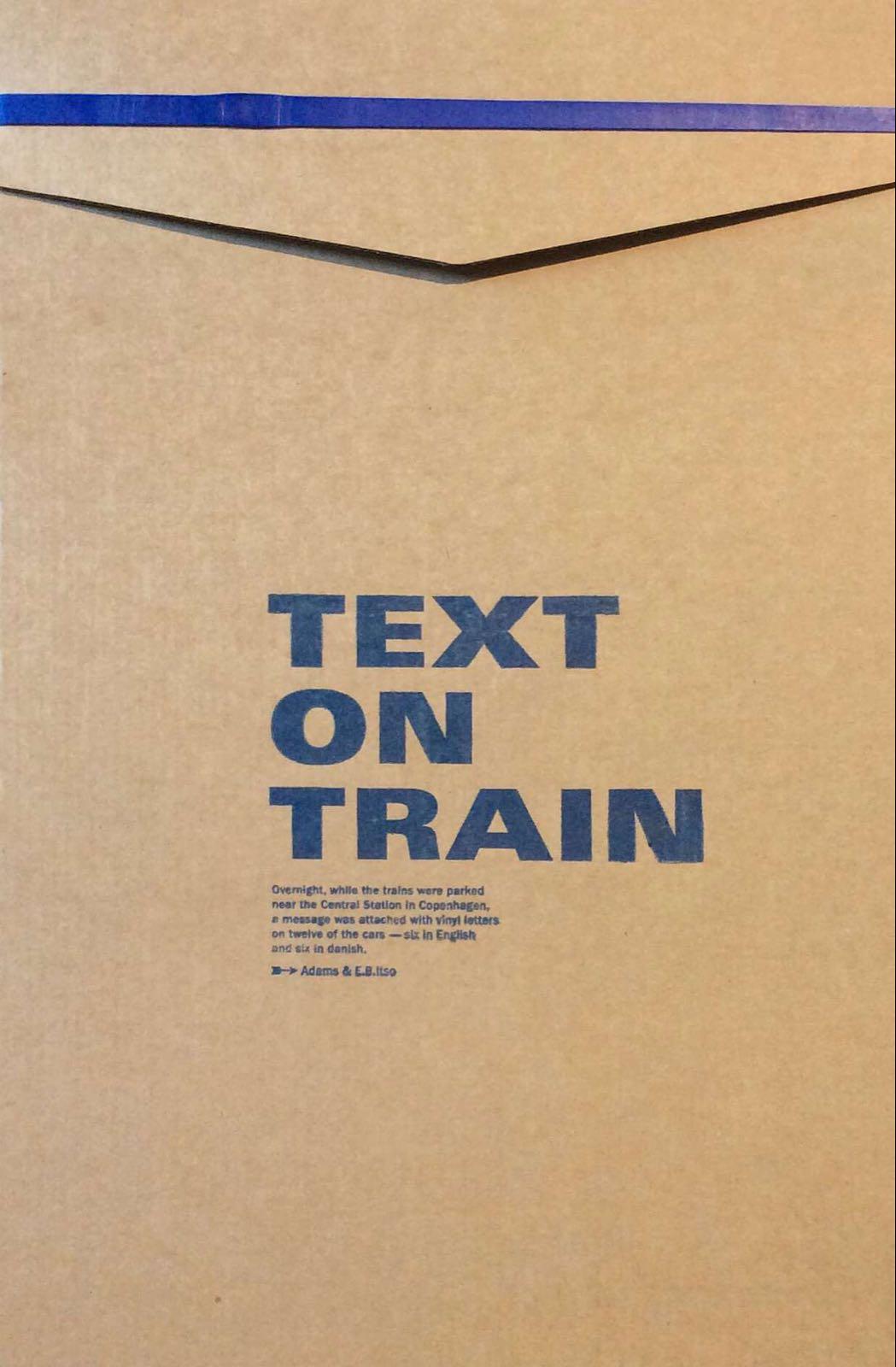 E.B. Itso. Text on Train
