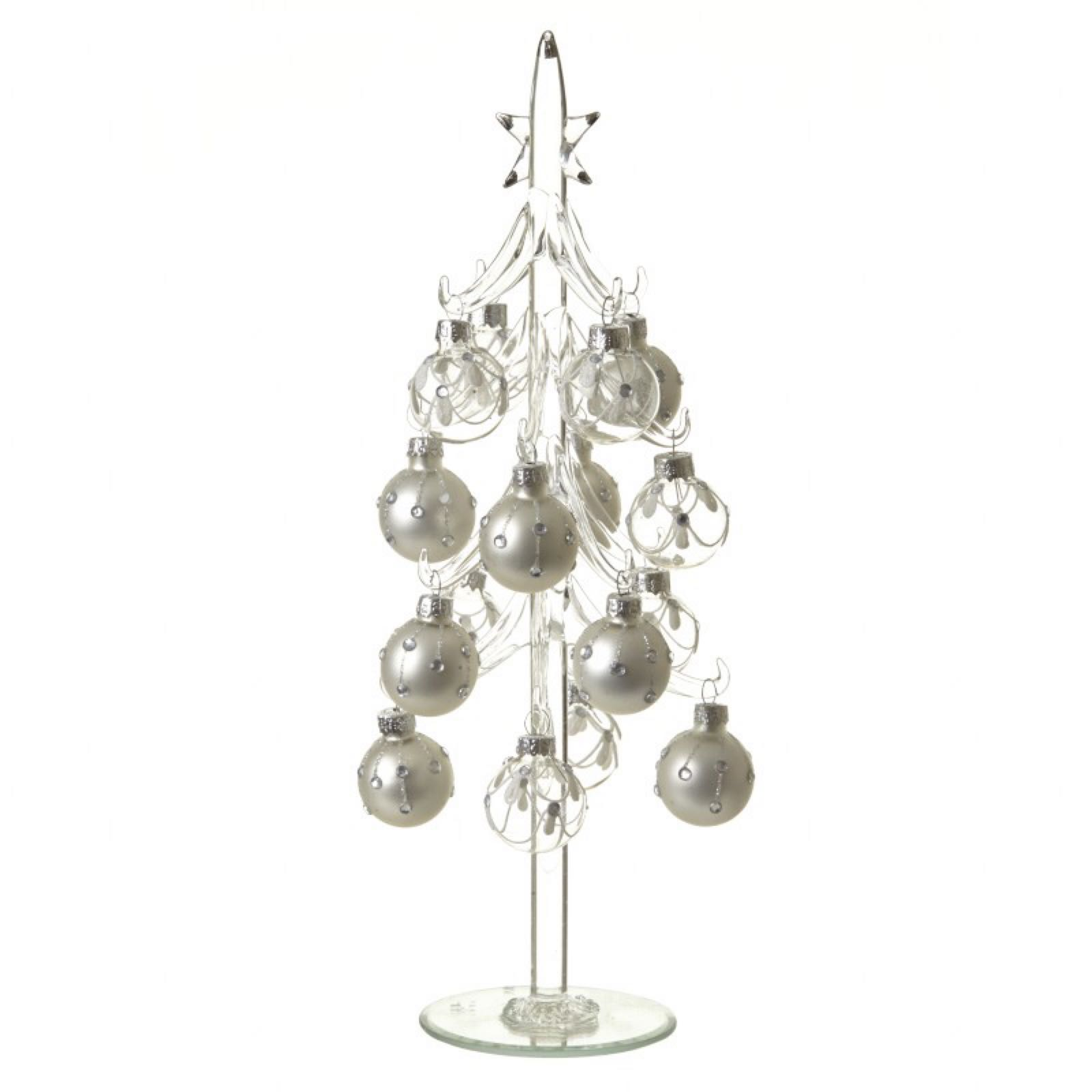 Glass Christmas Christmas Tree with Baubles