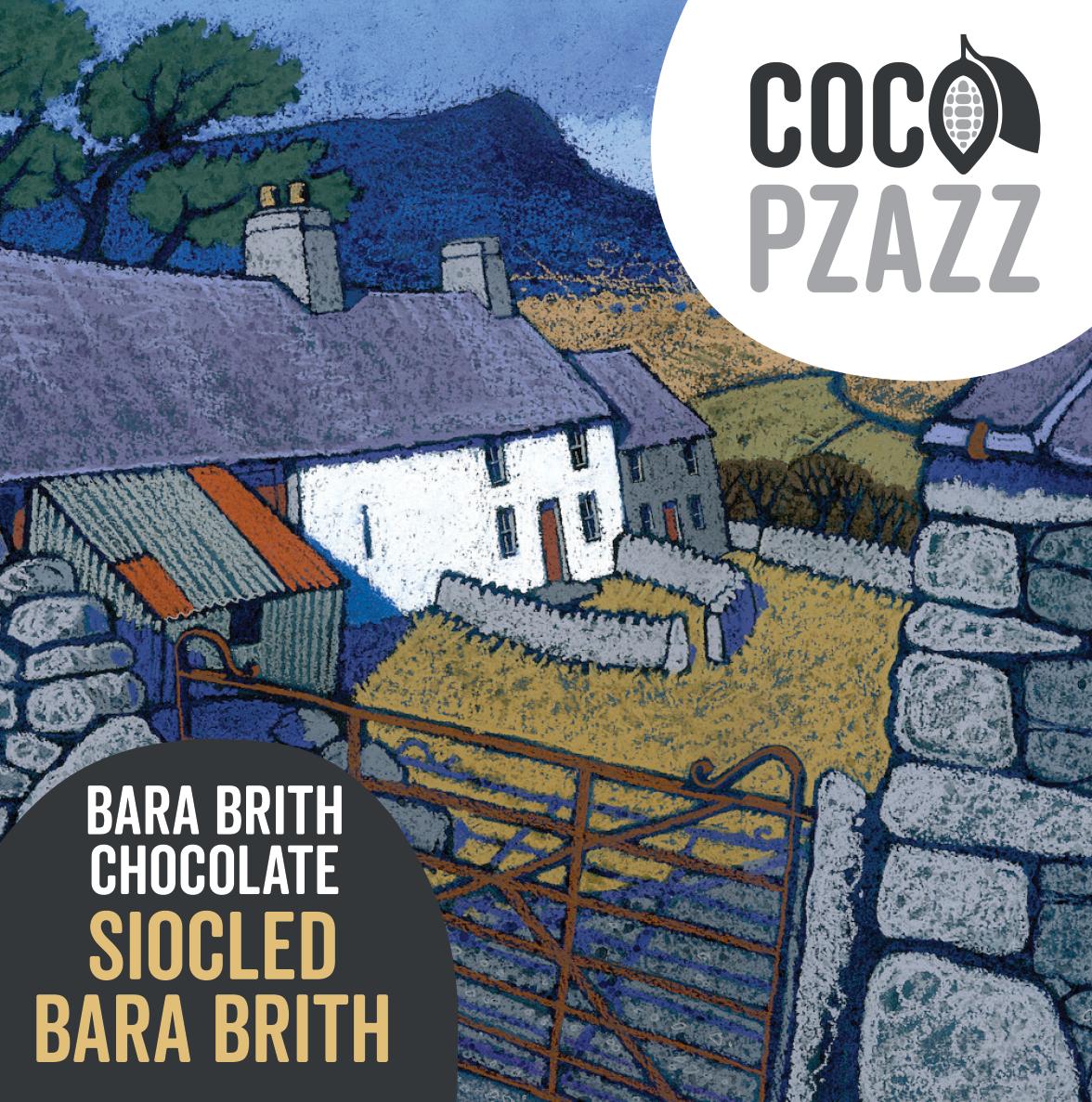 Coco Pzazz Bara Brith Milk Chocolate Bar