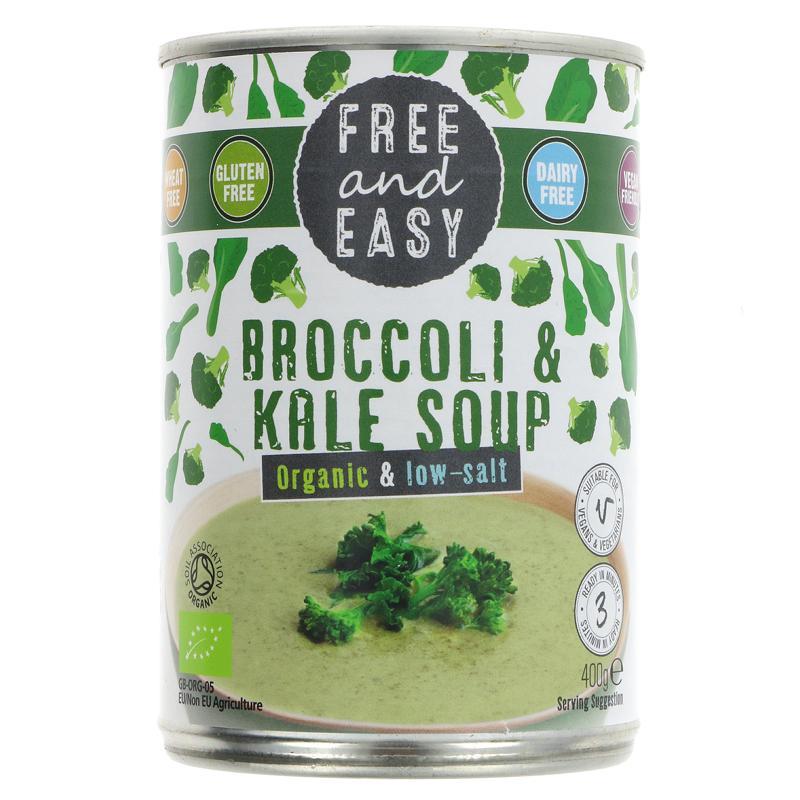 Free & Easy Broccoli & Kale Soup