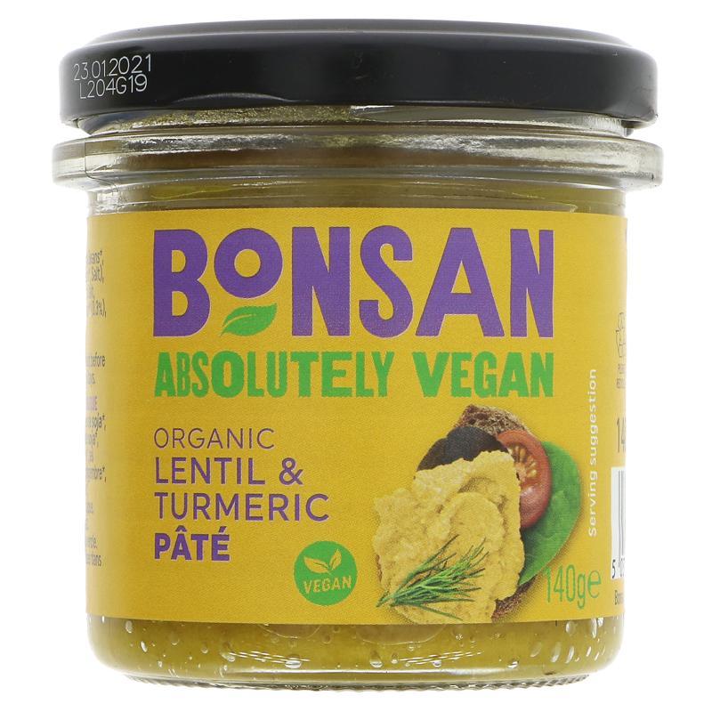Bonsan Lentil & Turmeric Pate