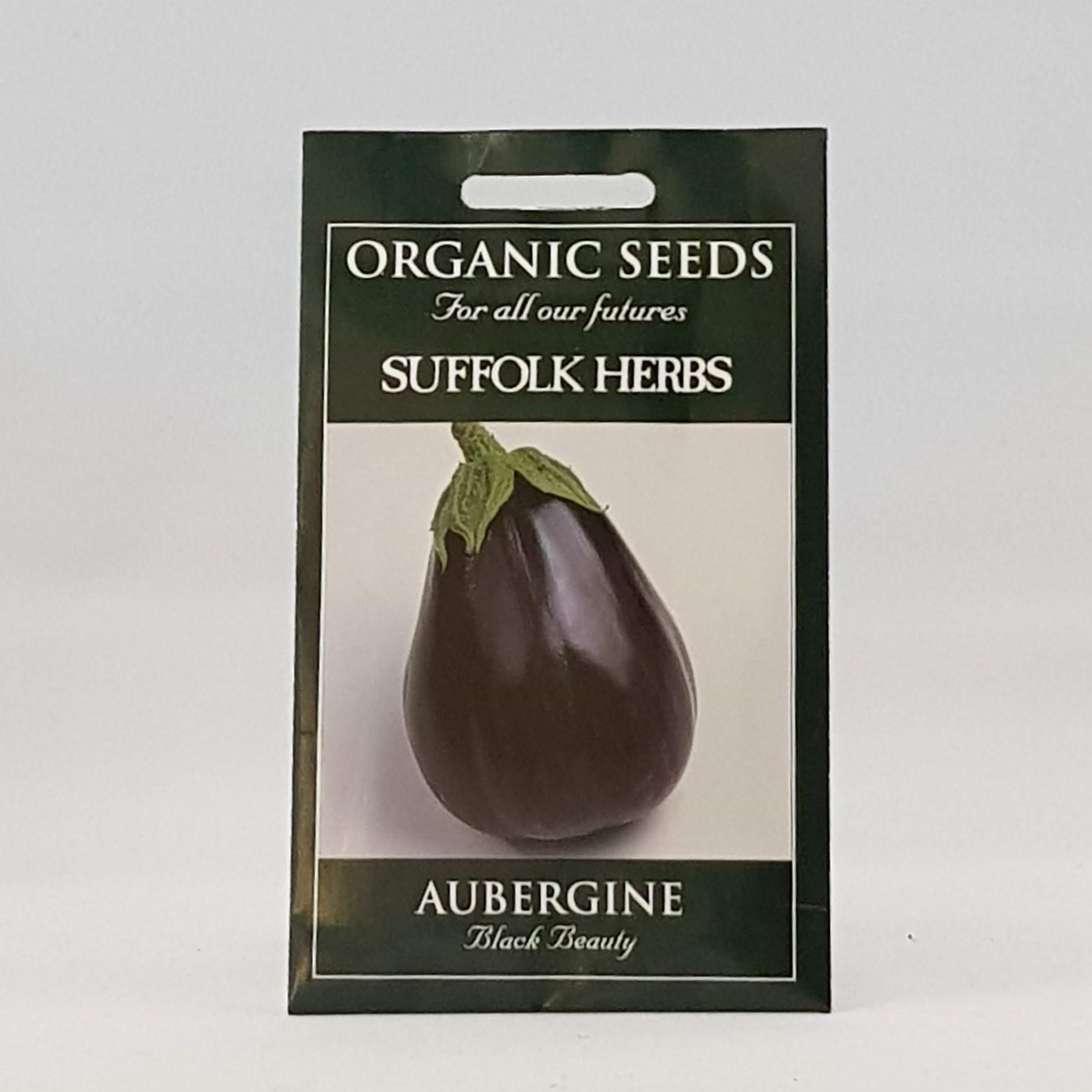 Aubergine Black Beauty Seeds, Organic