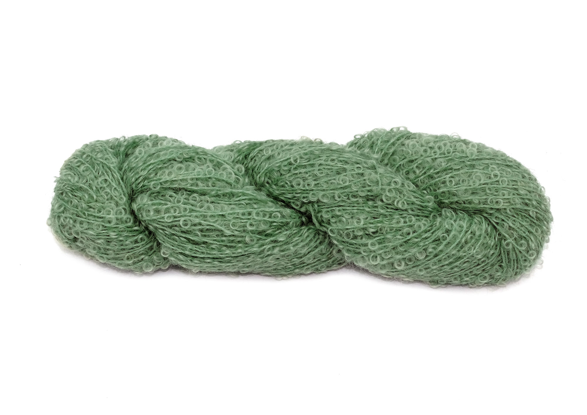 Mohair Boucle 1028 oliven