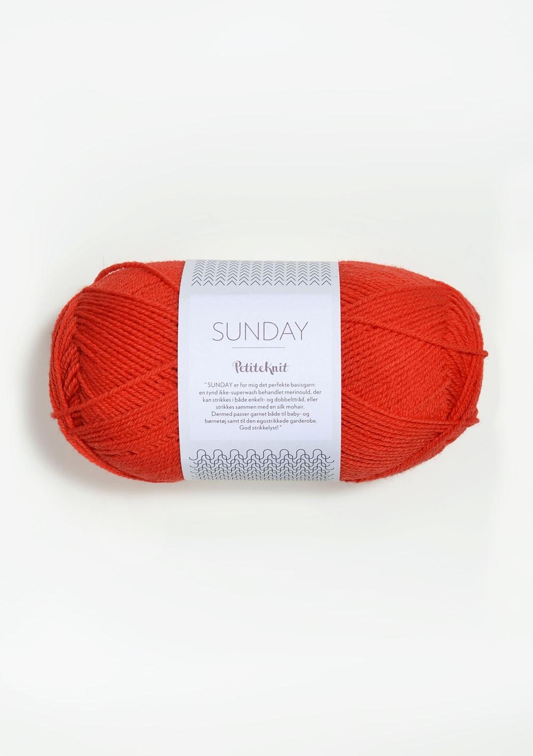 SANDNES 3819 That Orange Feeling Sunday PetiteKnit