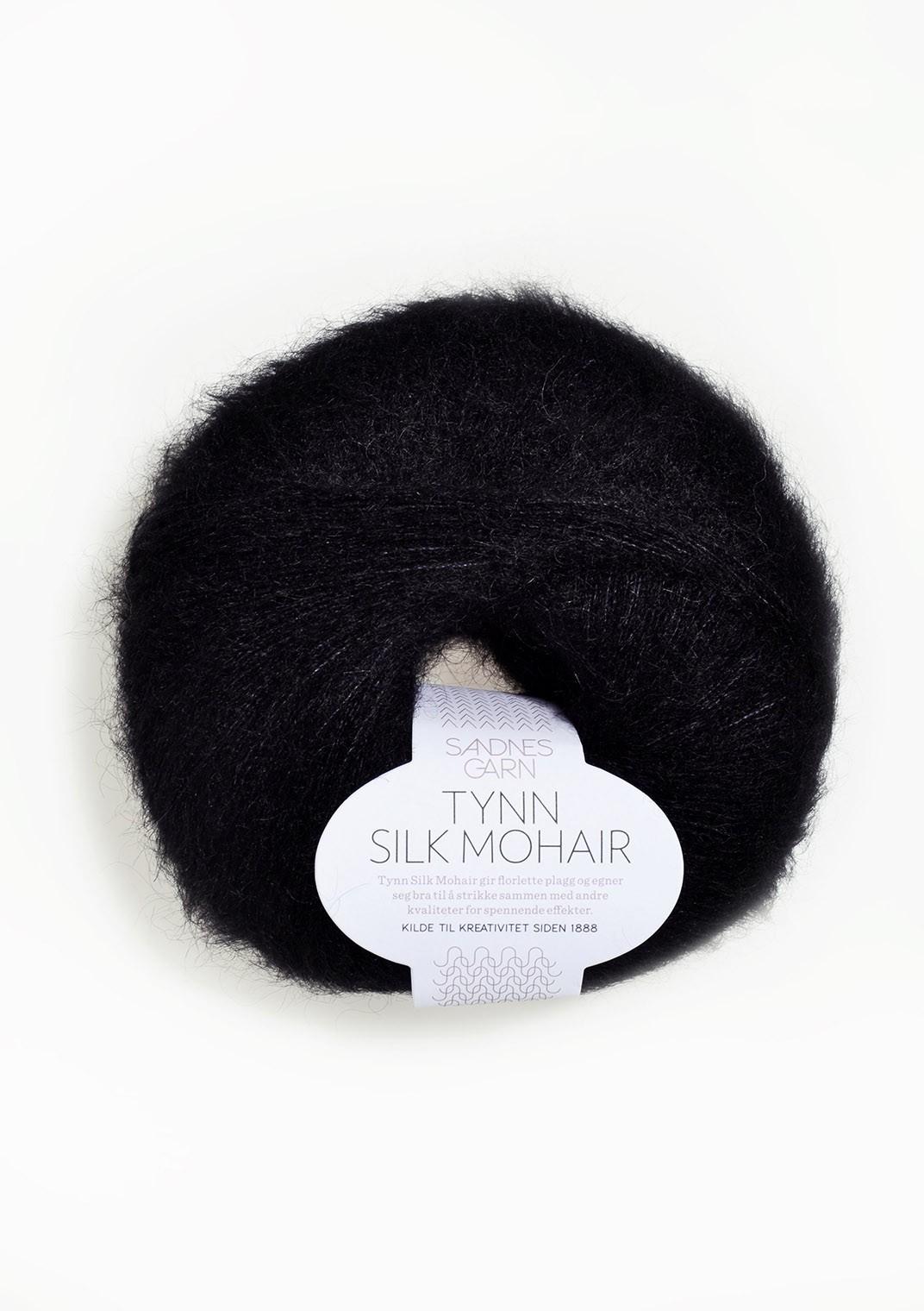 Sandnes 1099 sort Tynn Silk Mohair
