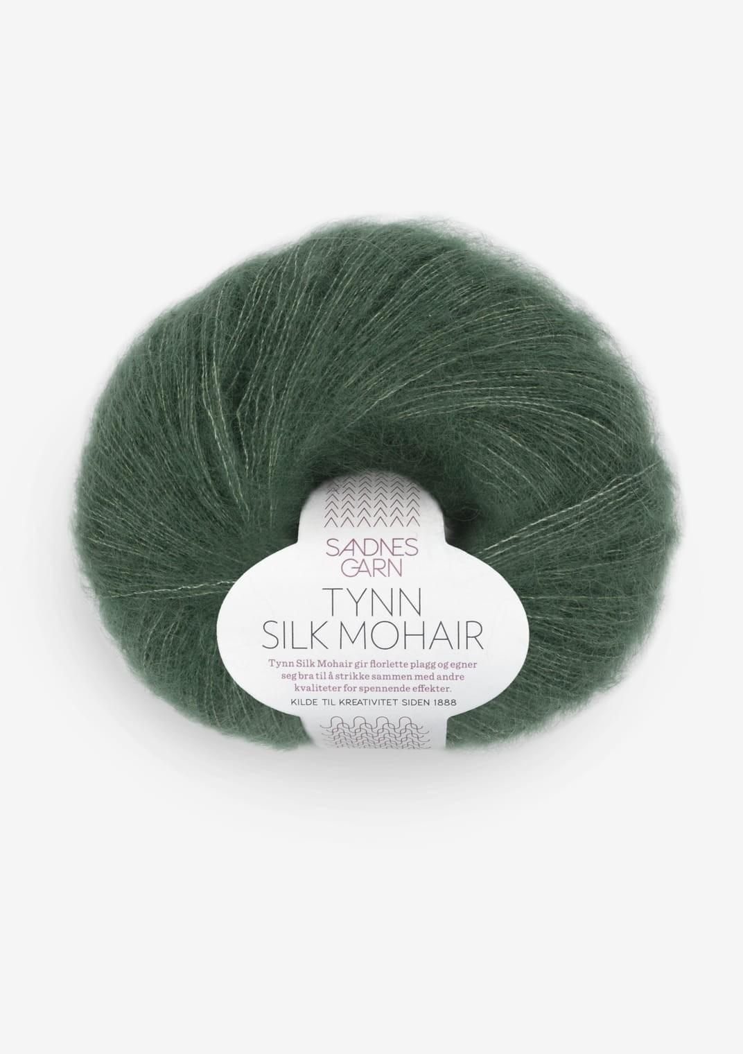 8581 Dyp Skoggrønn Tynn Silk Mohair SANDNES