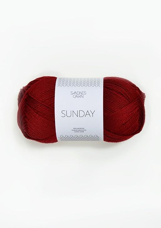 SANDNES 4236 dyp rød Sunday