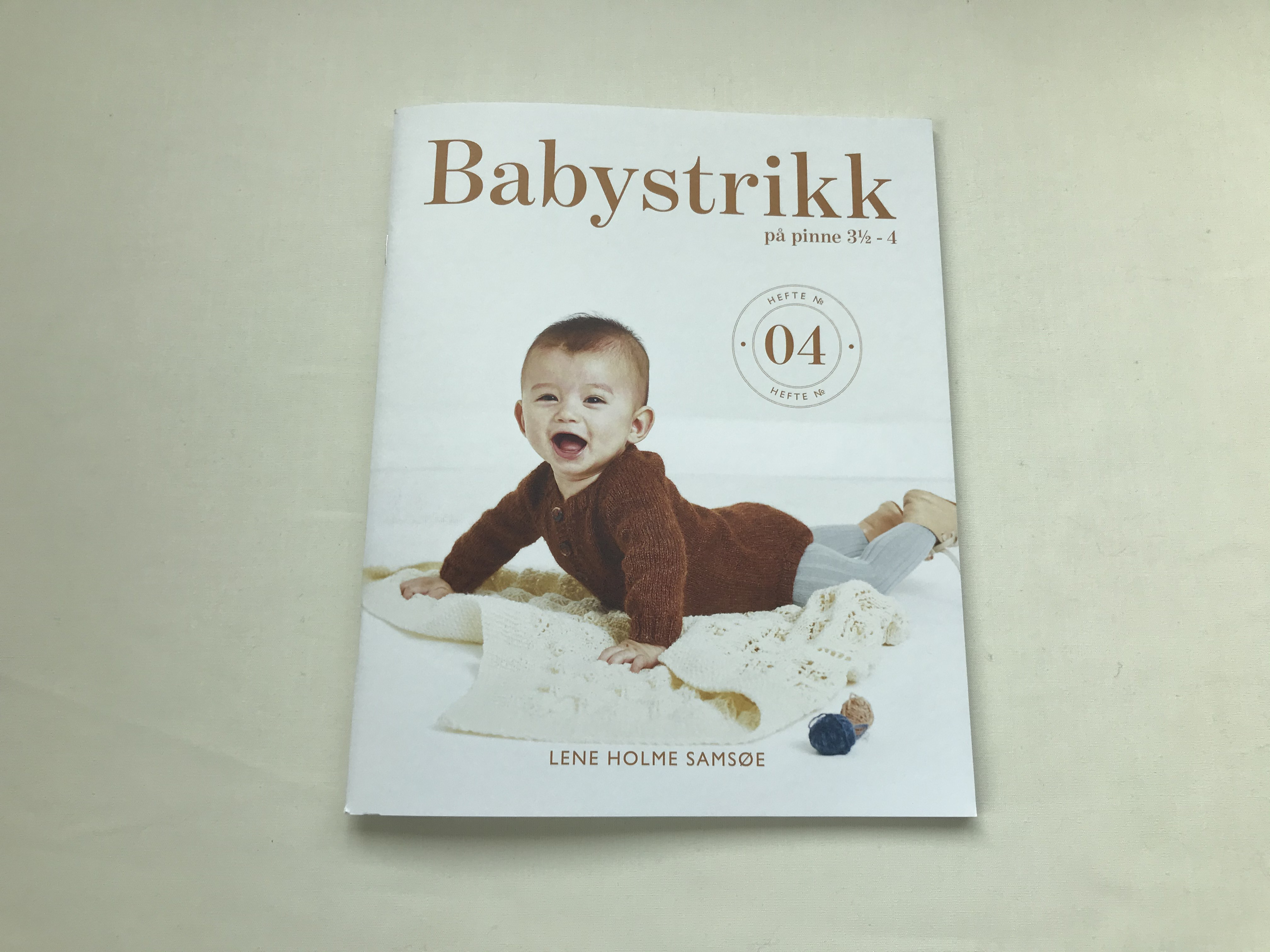 Hefte Babystrikk på pinne 3 1/2 - 4 hefte nr 04