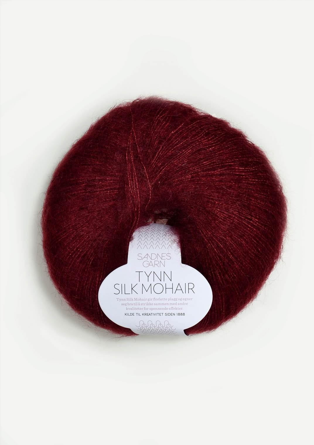 Sandnes 4054 dyp vinrød Tynn Silk Mohair