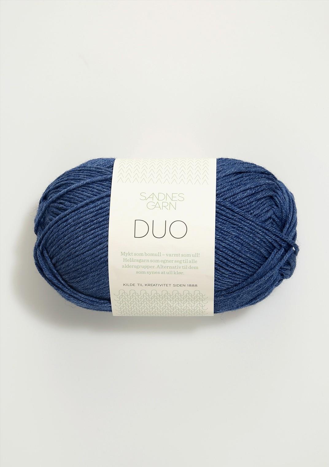 Sandnes 5864 blå melert DUO
