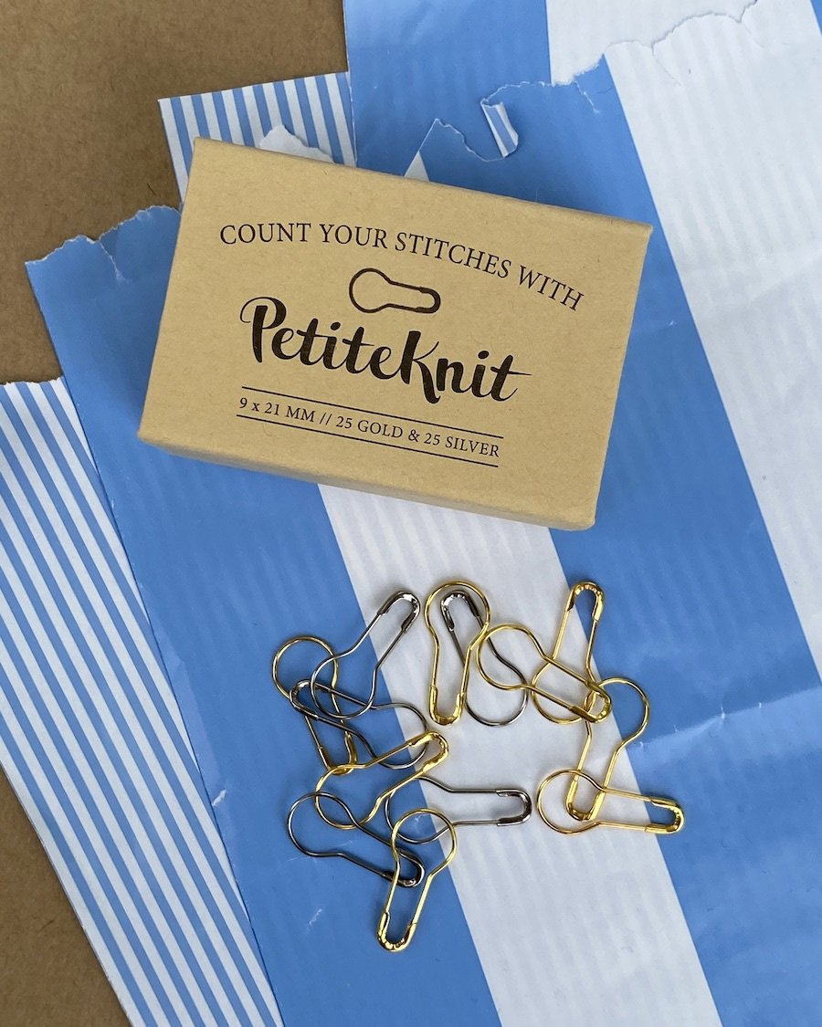 """""""Count your stitches with PetiteKnit"""" maskemarkører"""