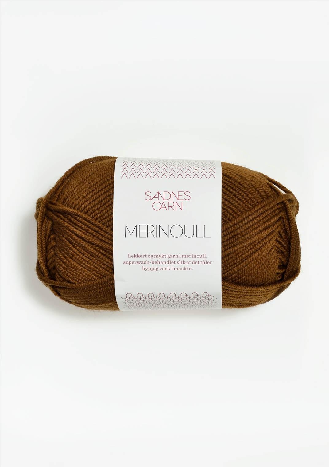 SANDNES 2564 Gyllenbrun Merinoull