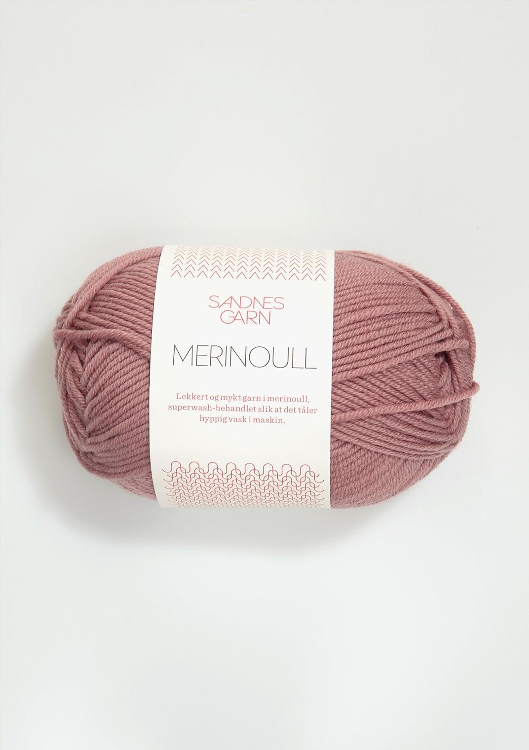 SANDNES 4042 gammelrosa Merinoull