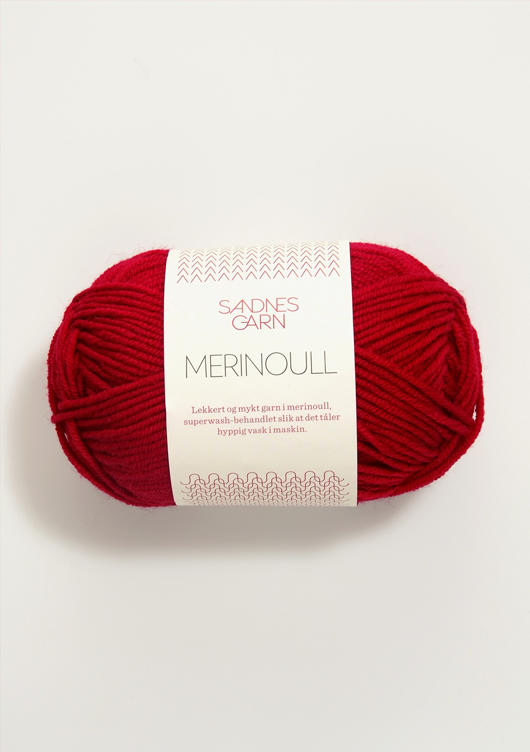 SANDNES 4219 rød Merinoull
