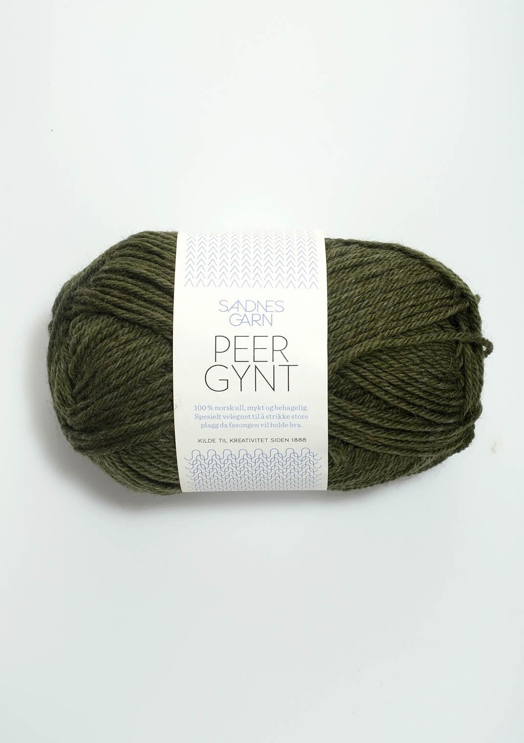 SANDNES 9572 mørk grønnmelert Peer Gynt