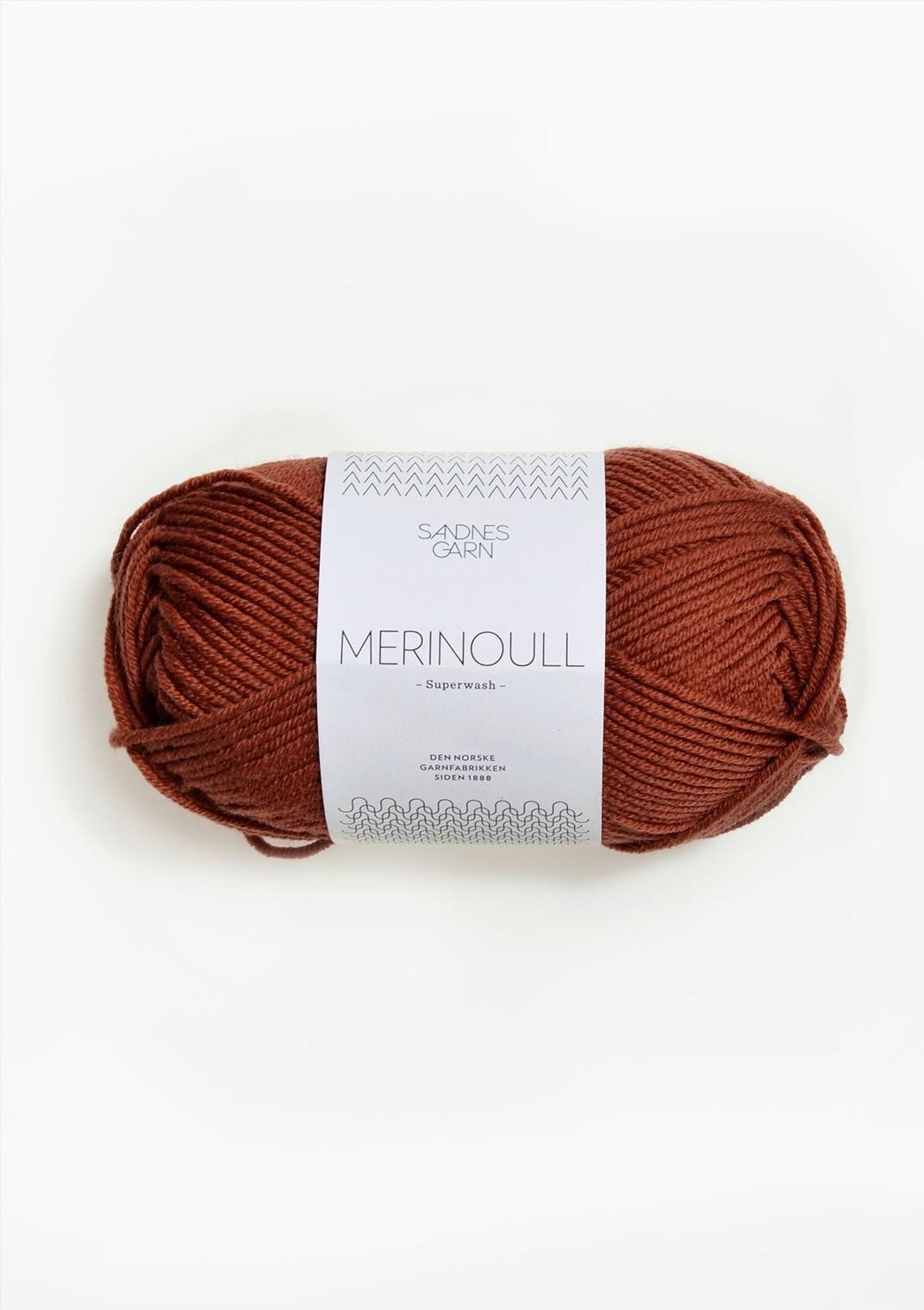 SANDNES 3345 rust merinoull