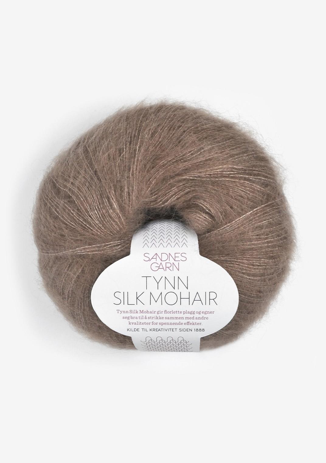 Sandnes 3161 eikenøtt Tynn Silk Mohair