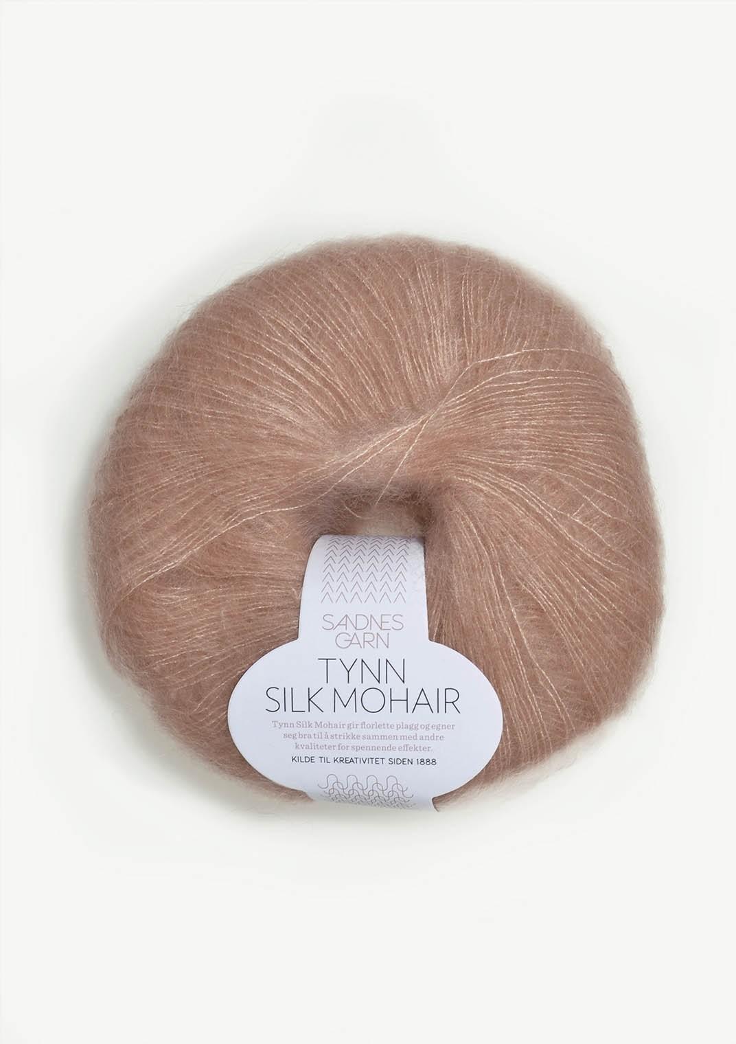 Sandnes 3511 pudder rosa Tynn Silk Mohair