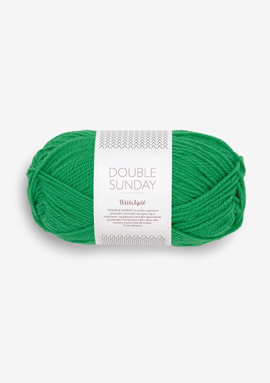 8236 statement green Double Sunday PetiteKnit