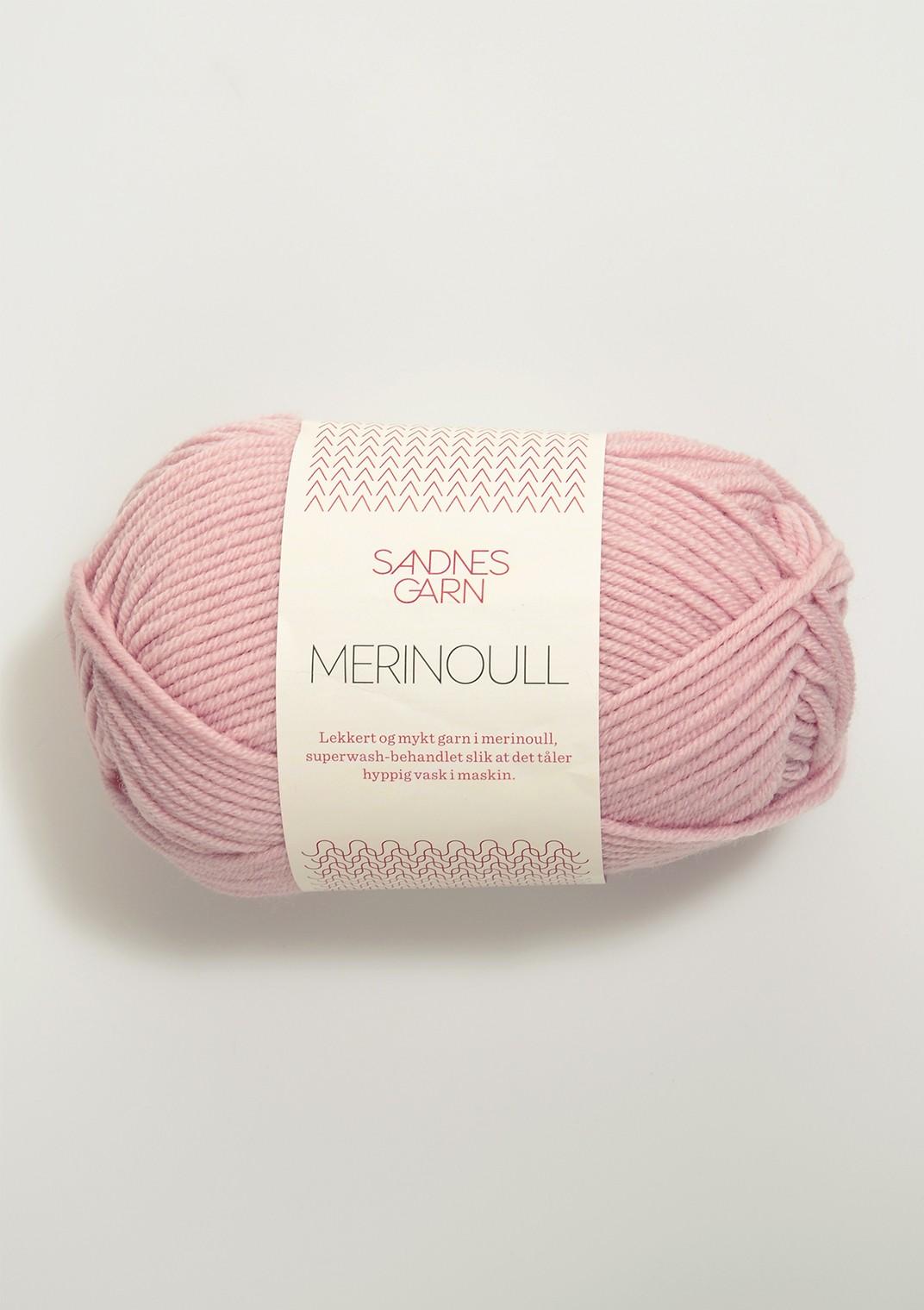 SANDNES 4312 støvet rosa Merinoull