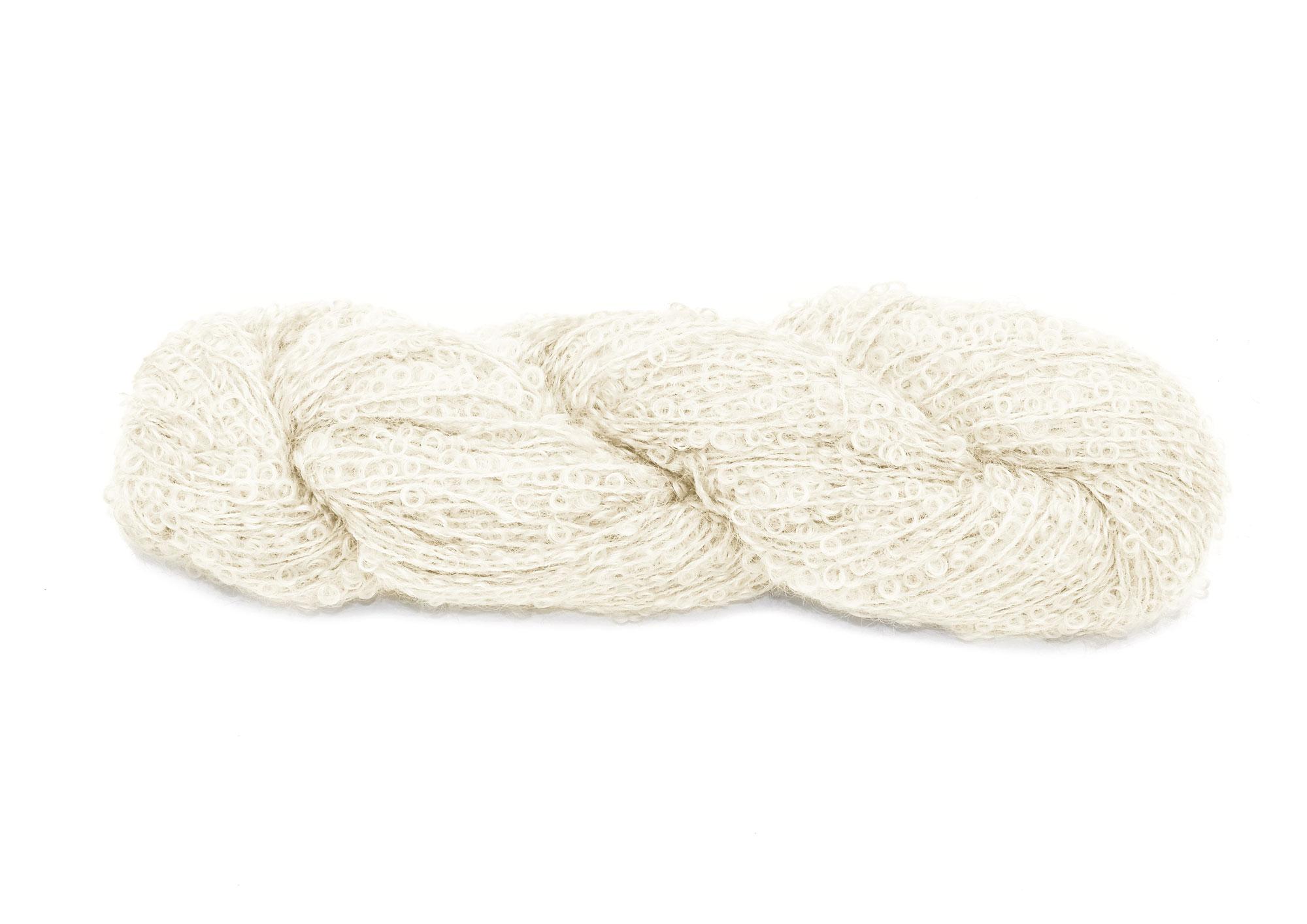 Mohair Bouclé 1000 hvid