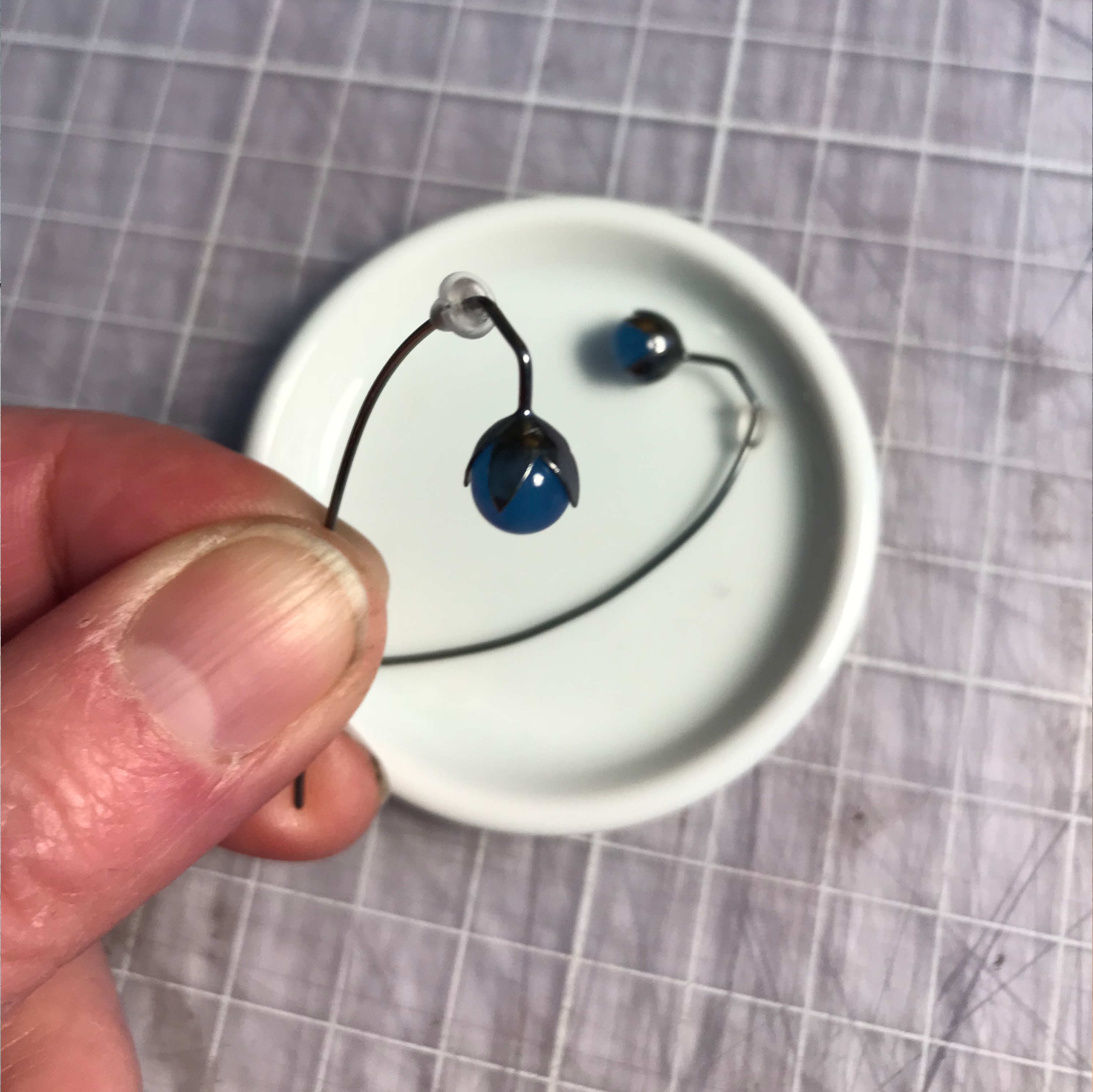 Linknopp, Flax, blå onyx