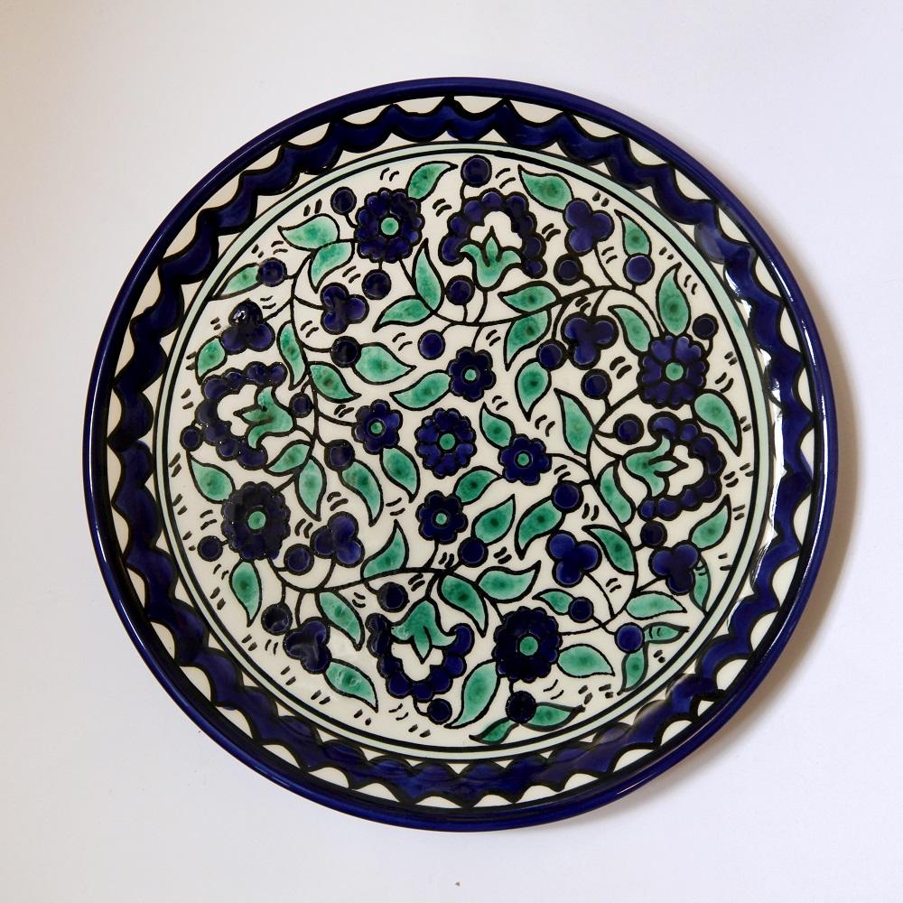 Liten tallerken, blå og turkis