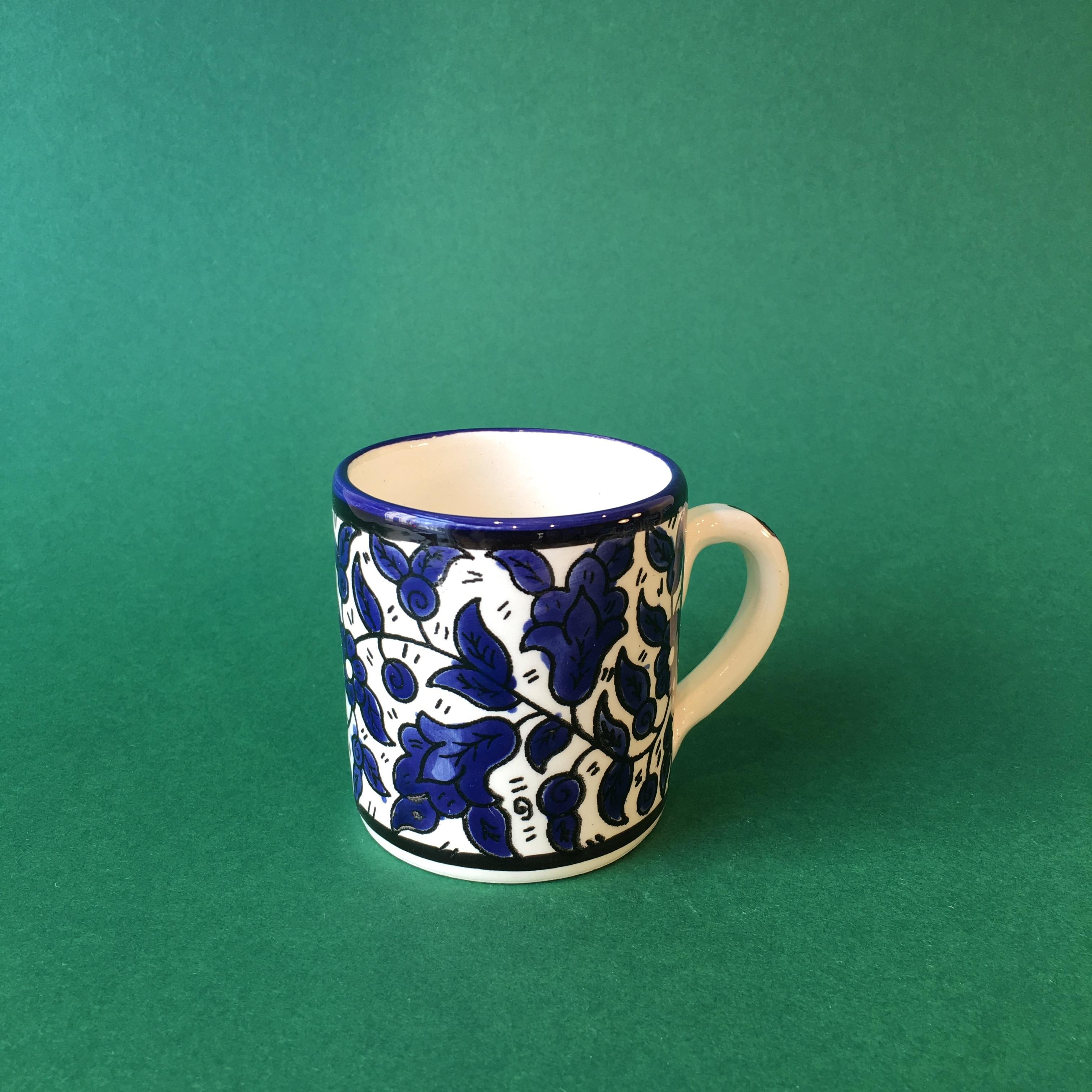 Liten keramikkopp, blå