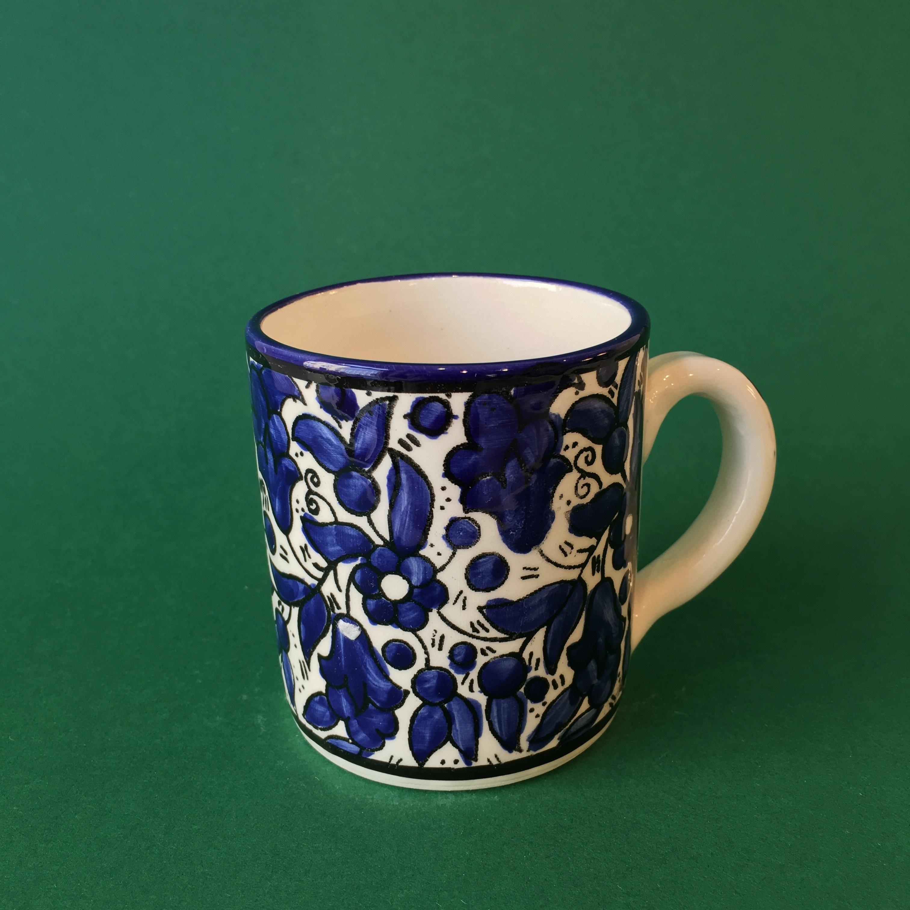 Mellomstor keramikkopp, blå