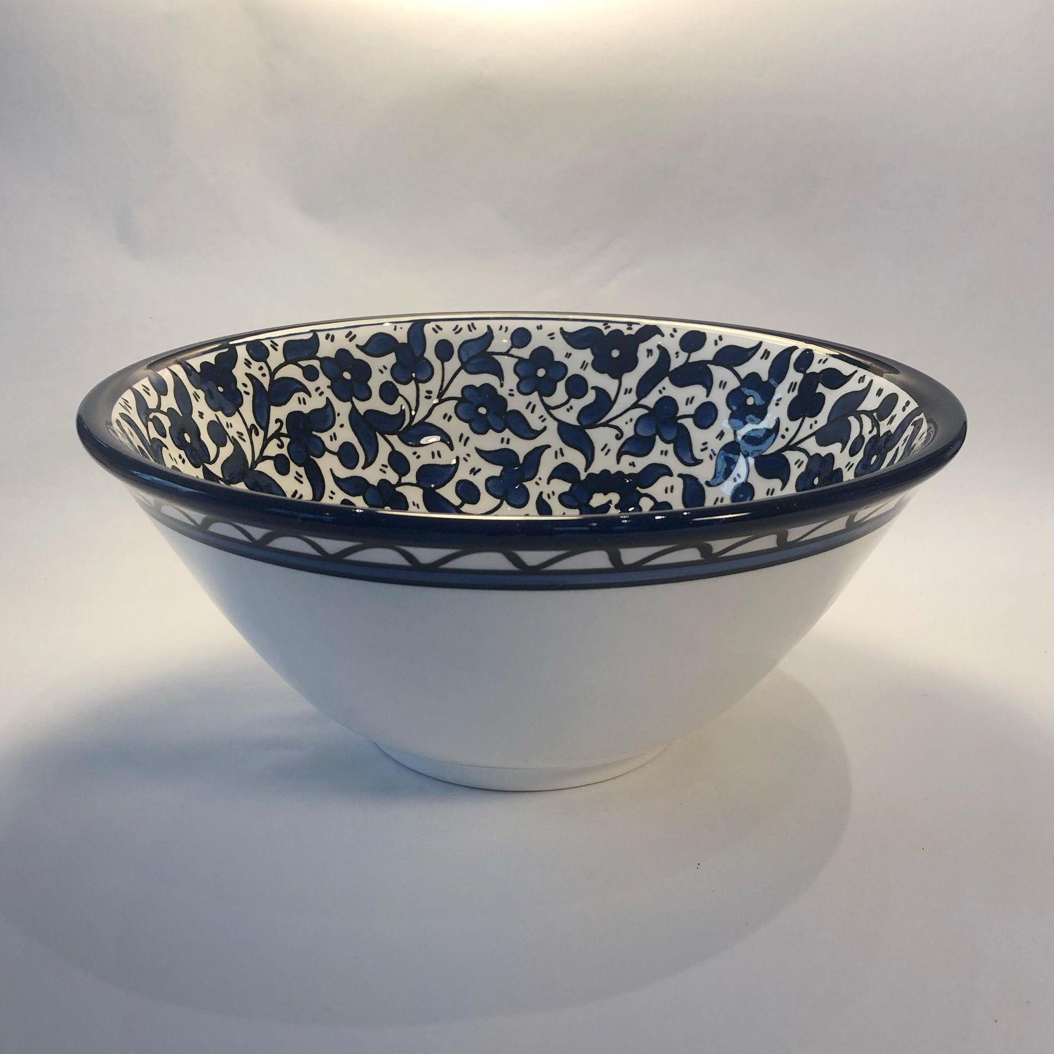 Salatbolle, keramikk. Blå
