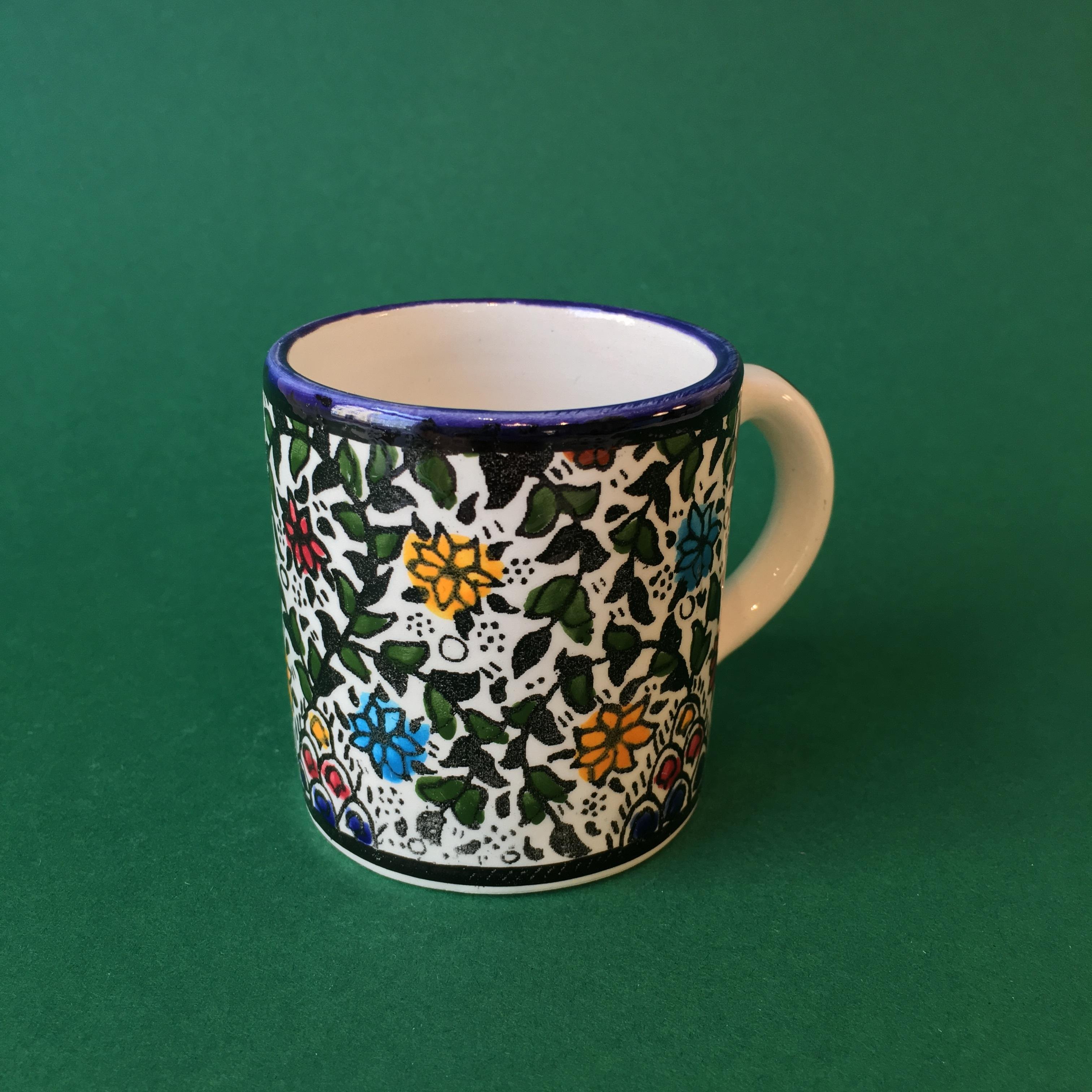 Liten keramikkopp, flerfarget