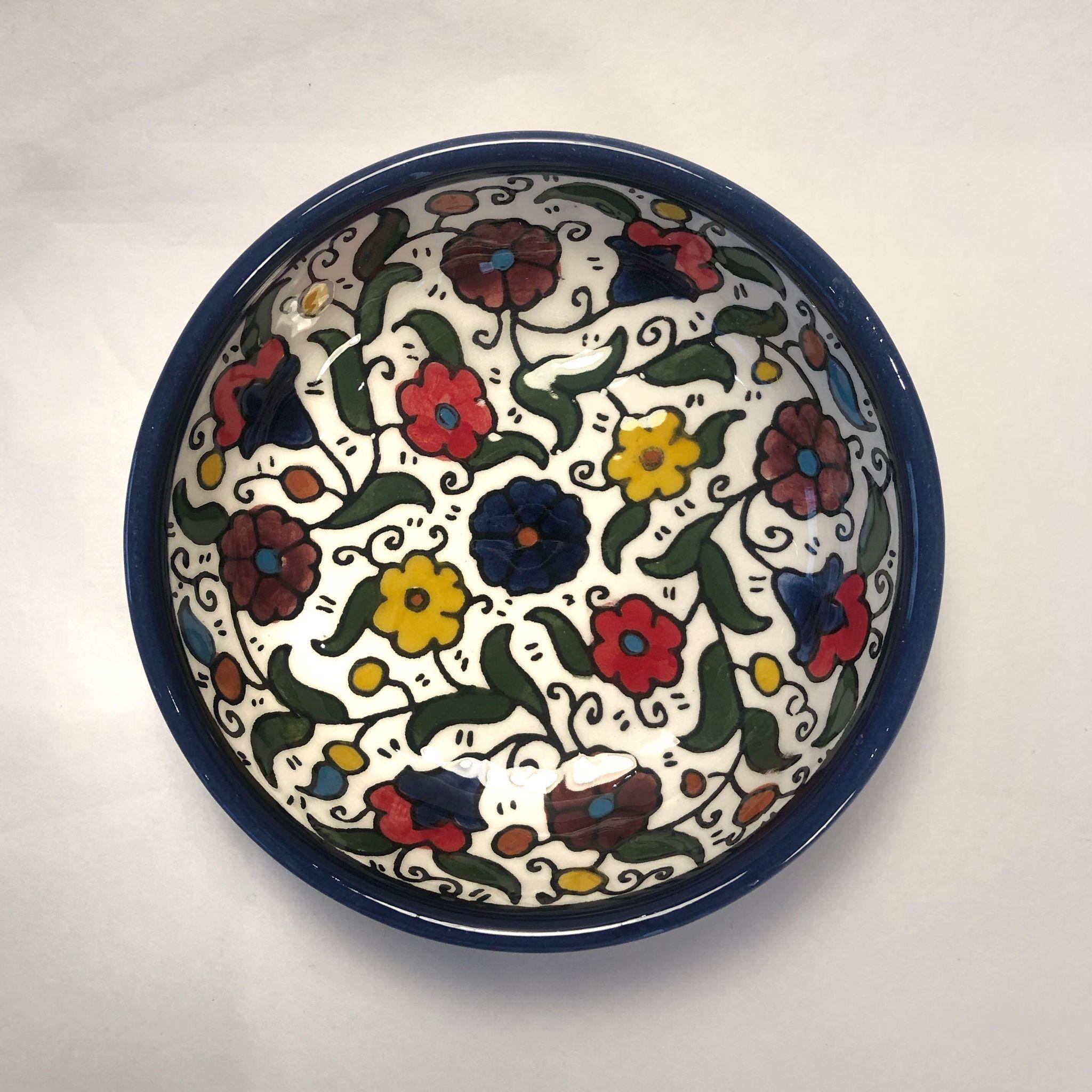 Liten keramikkskål, flerfarget