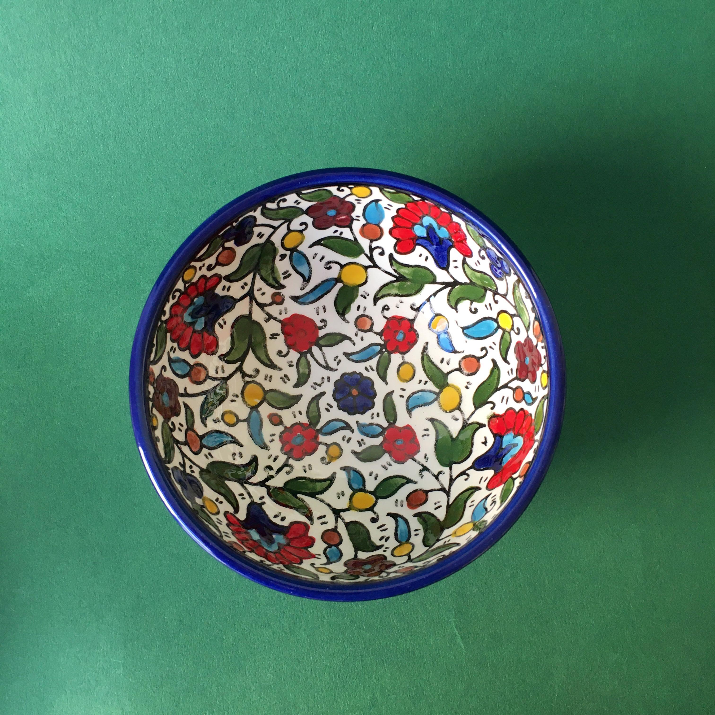 Keramikkskål, flerfarget