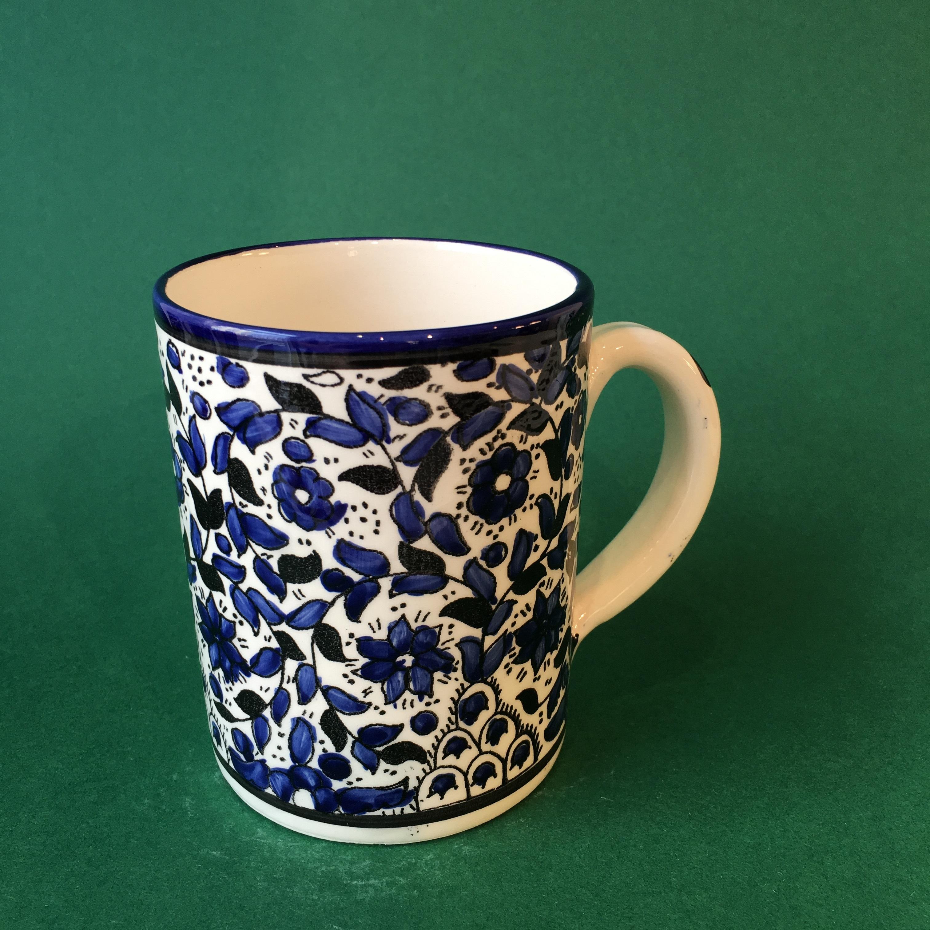 Stor keramikkopp, blå (lite mønster)