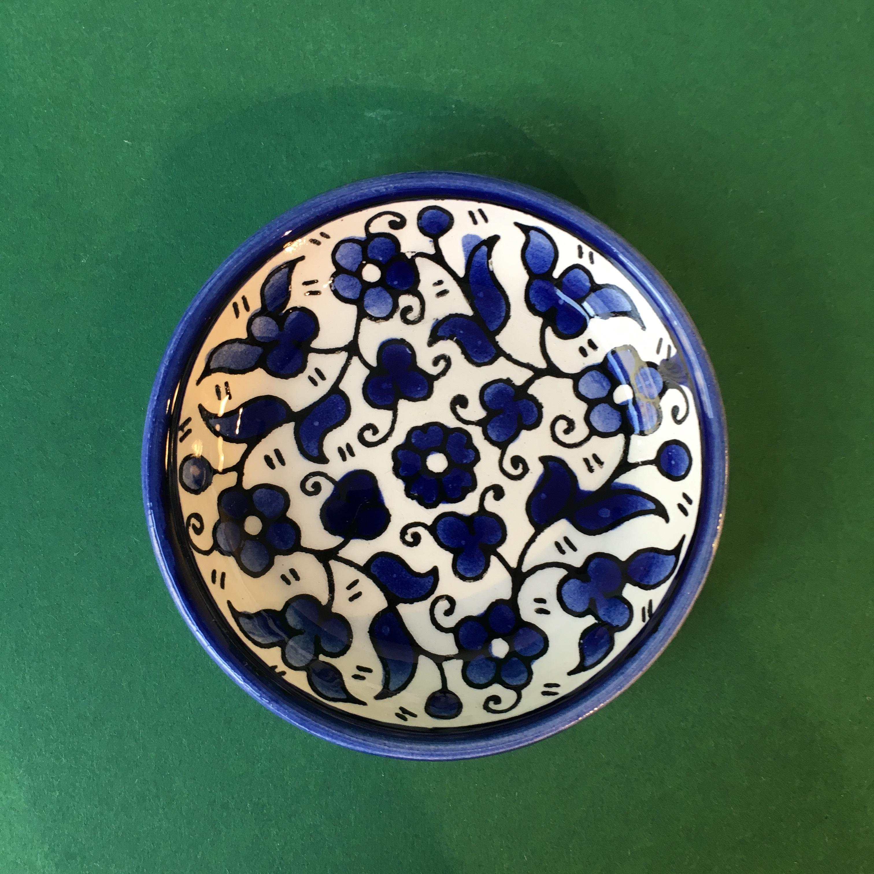 Mini keramikkskål, blå