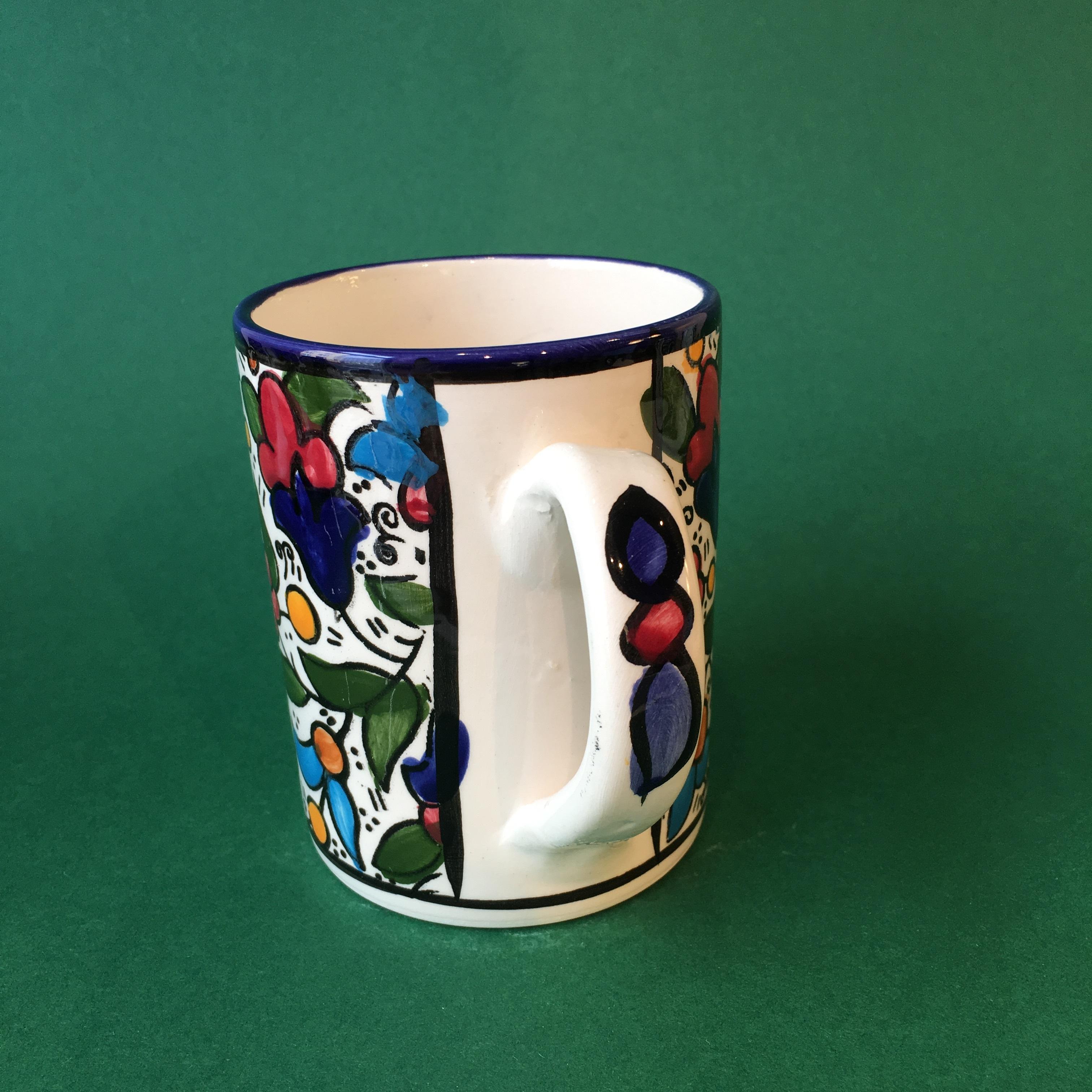 Stor keramikkopp, flerfarget