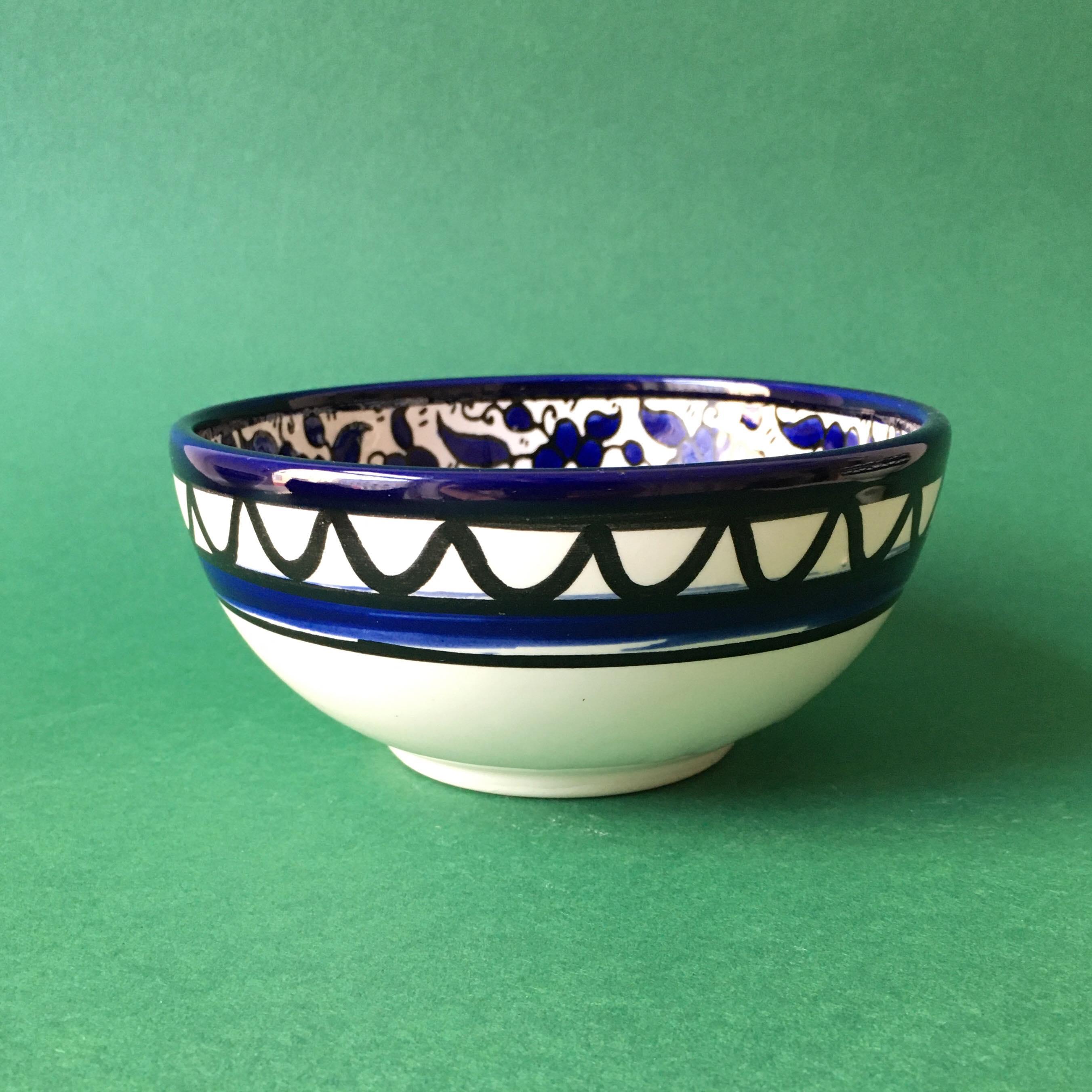 Keramikkskål, blå