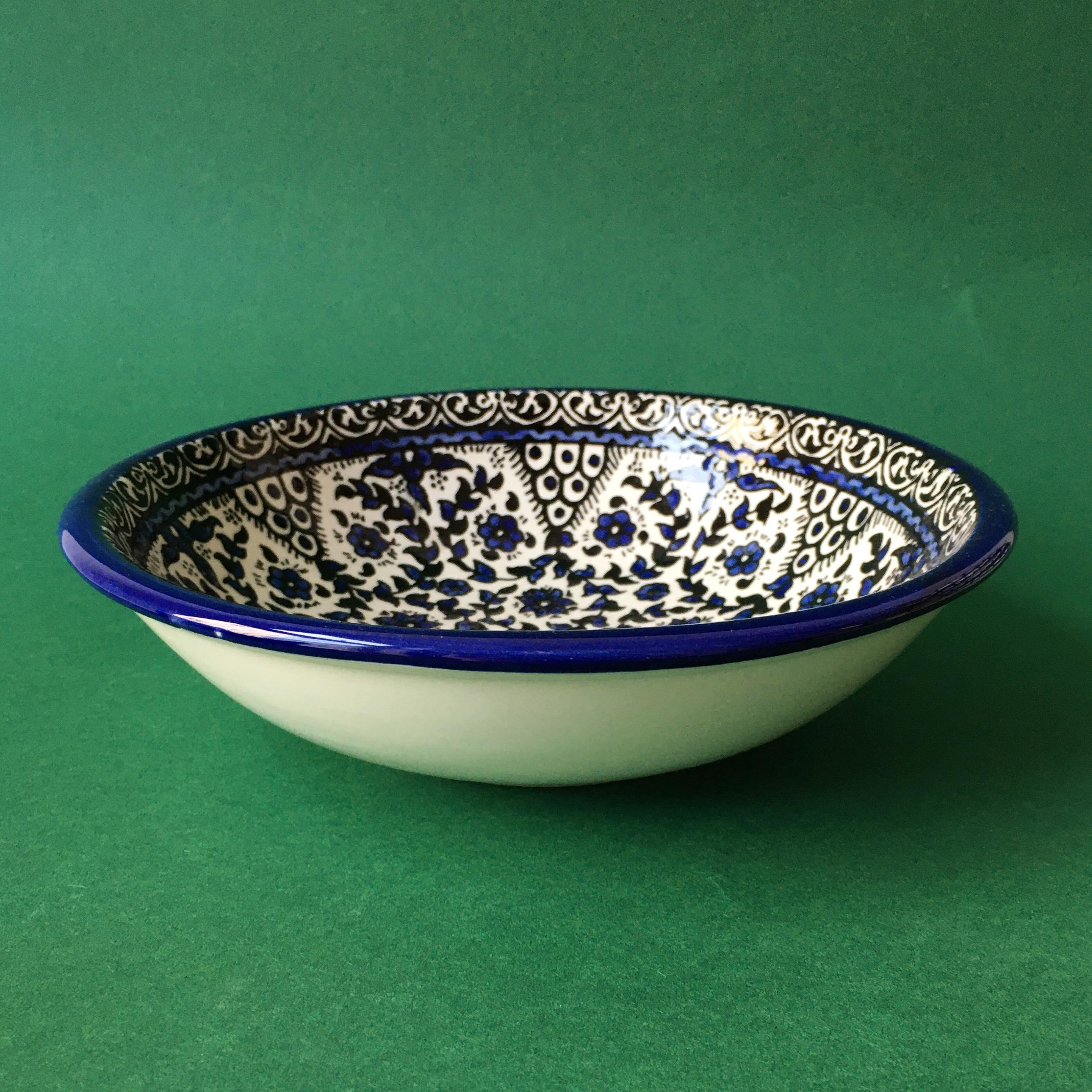 Stor keramikkskål, blå