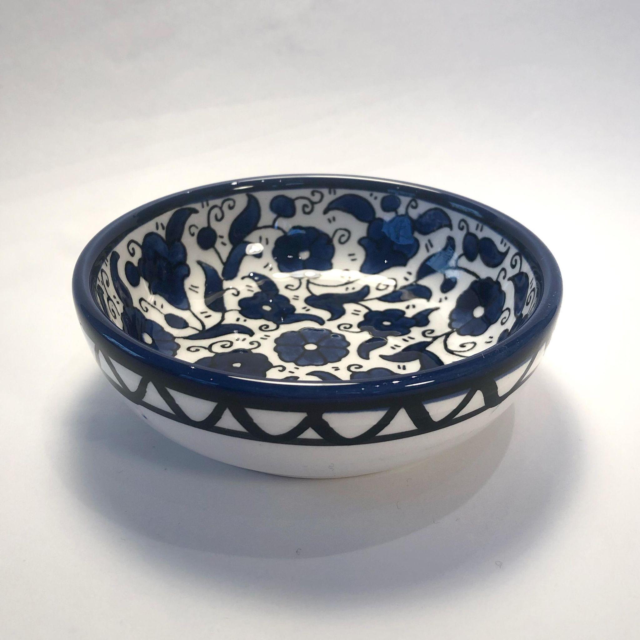 Liten keramikkskål, blå