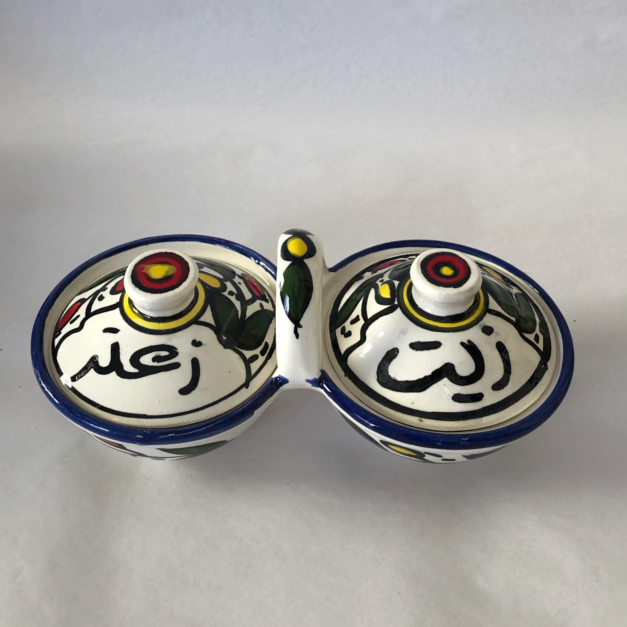 Olivenolje og Za'atar skål