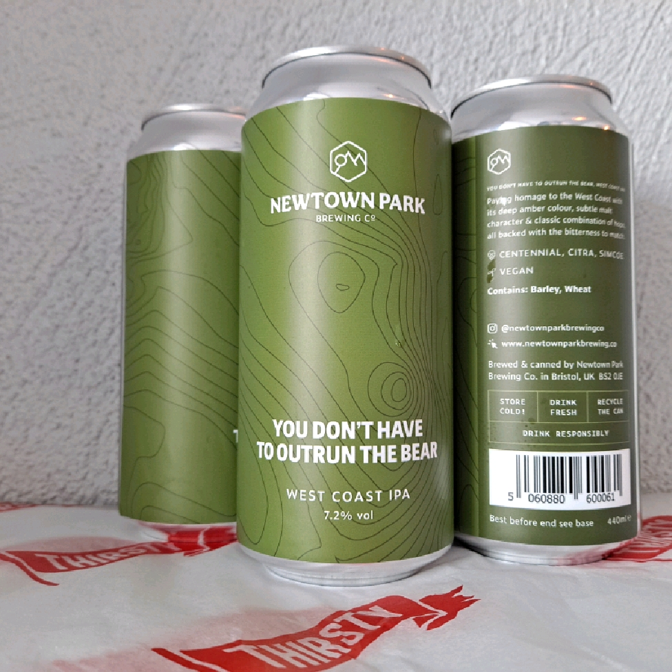 Newtown Park | you Don't Have To Outrun The Bear | West Coast IPA 7.2% 440ml