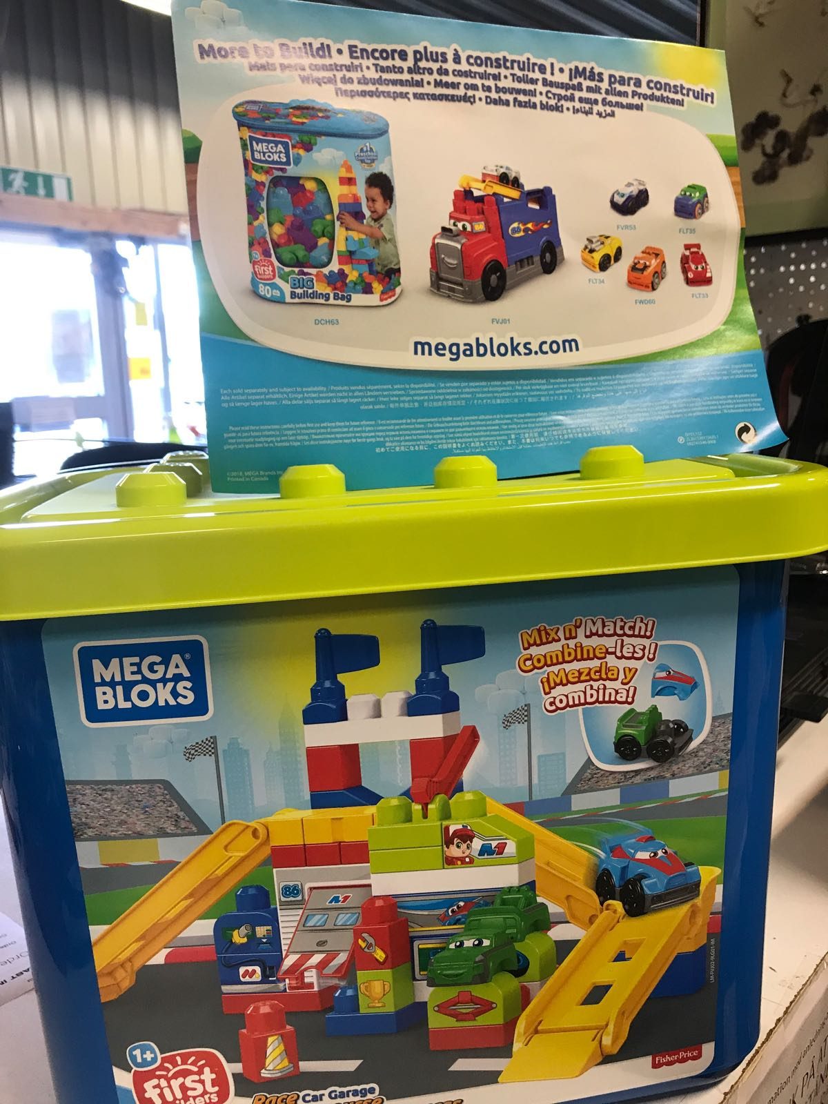 MEGA BLOKS RACE CAR GARAGE (60 bitar)
