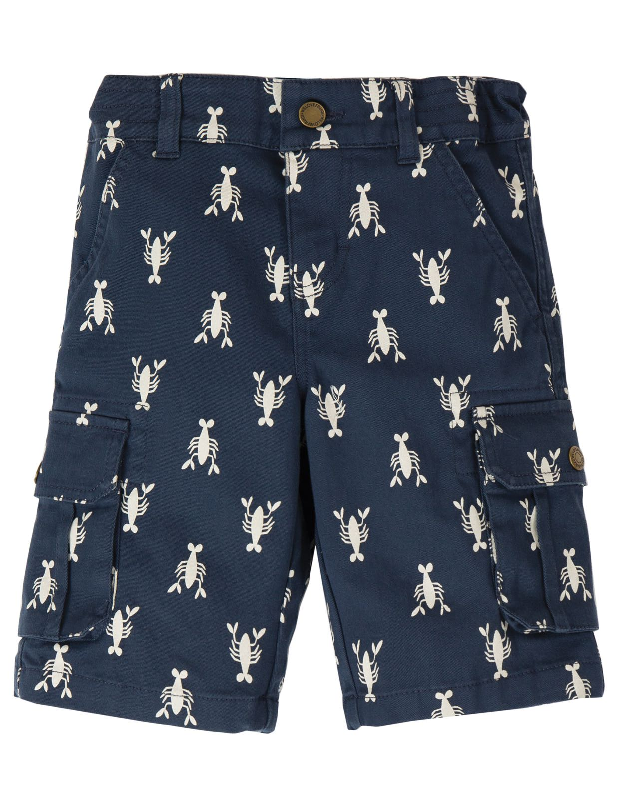 Frugi Explorer Shorts, Indigo Lobster