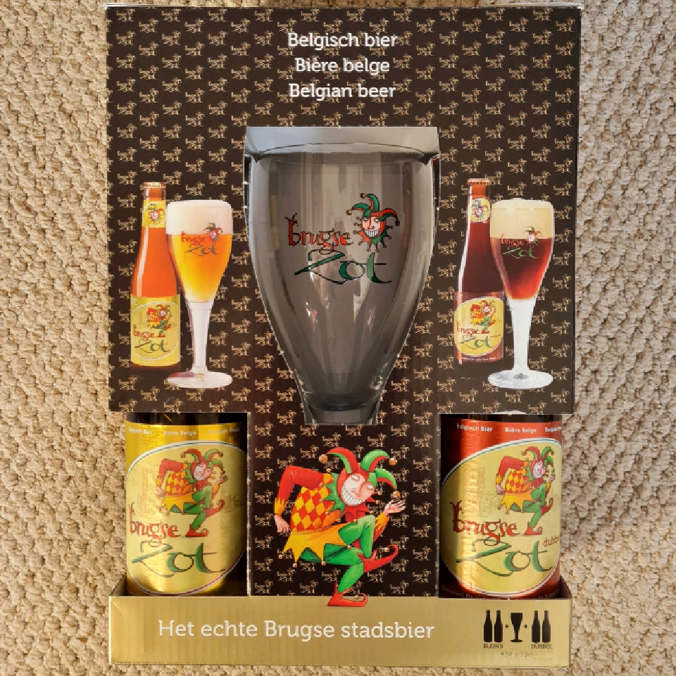 Brugse Zot Gift Pack (4x 330ml bottles + glass)