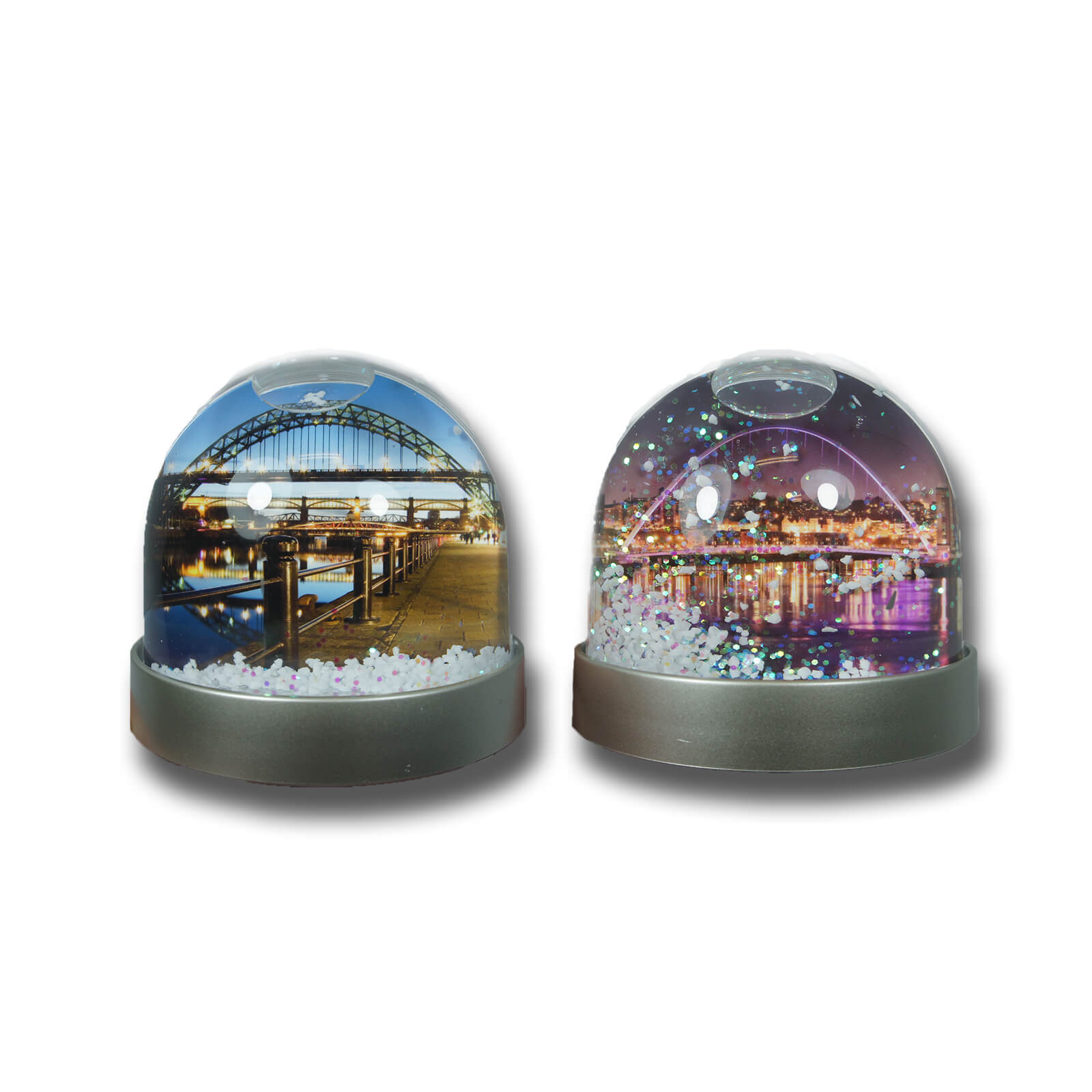 Tyne Bridge & Millennium Full Colour Snow Globe